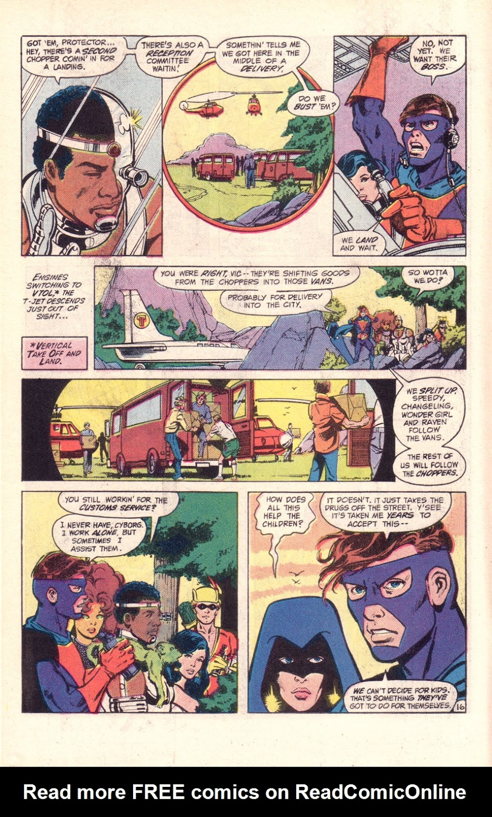 Read online The New Teen Titans (Drug Awareness Specials) comic -  Issue #2 - 18