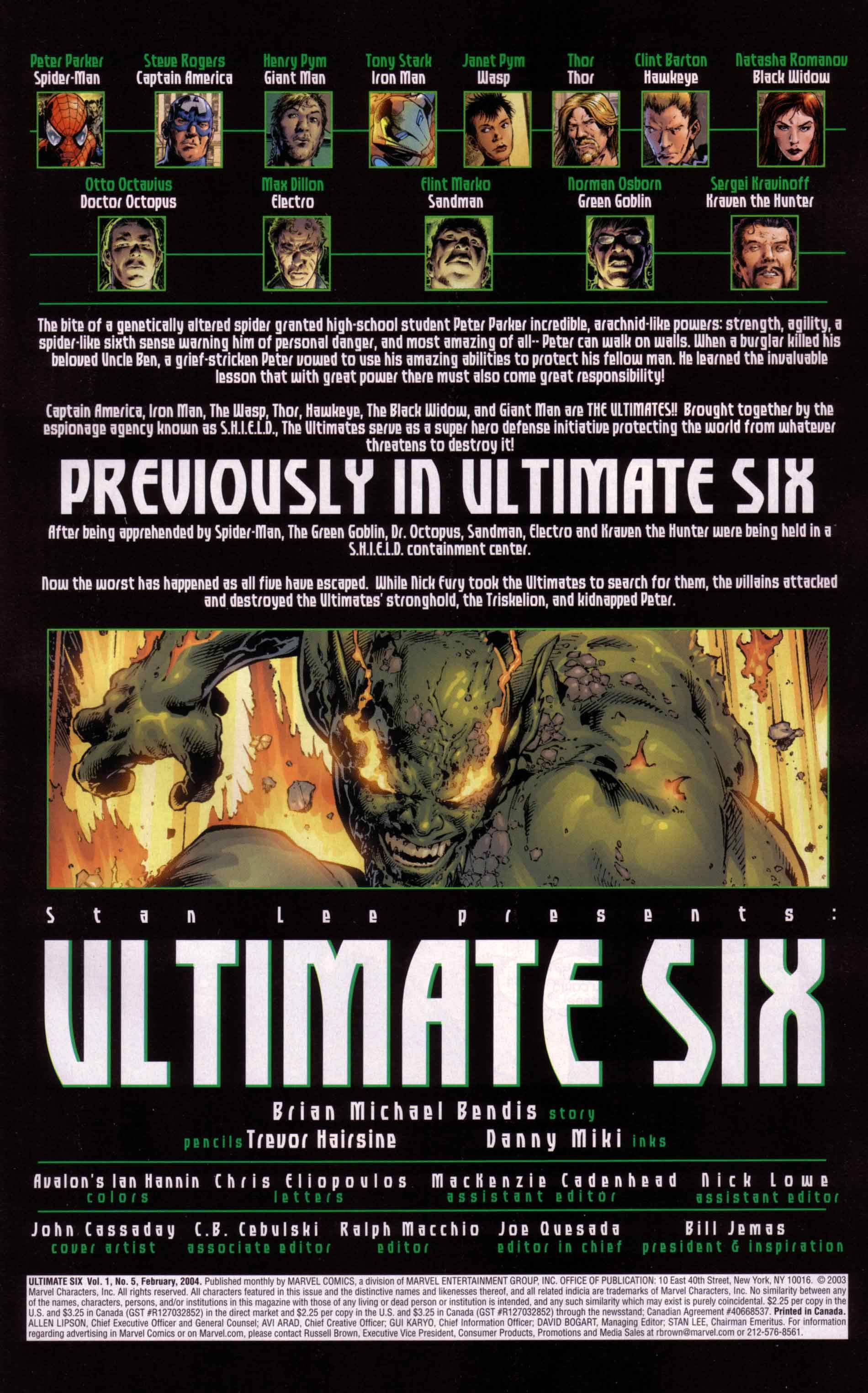 Read online Ultimate Six comic -  Issue #5 - 2