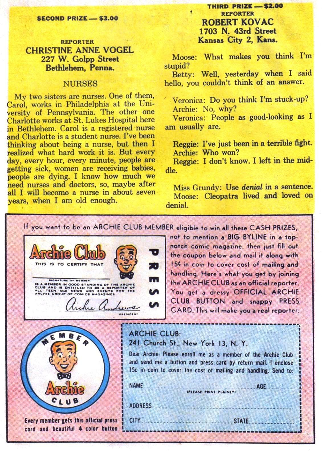 Read online Archie (1960) comic -  Issue #147 - 11