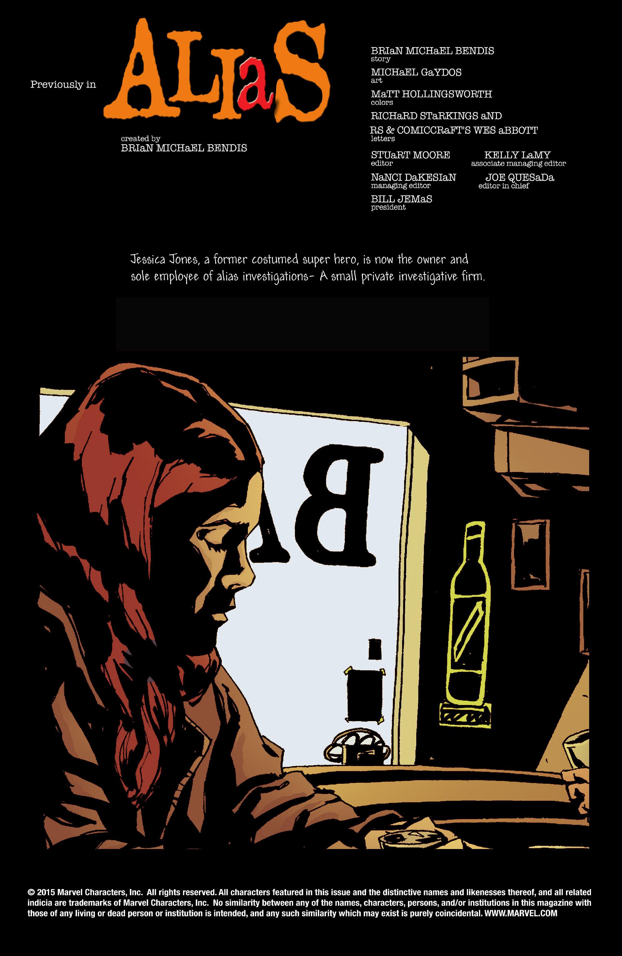 Read online Alias comic -  Issue #4 - 2