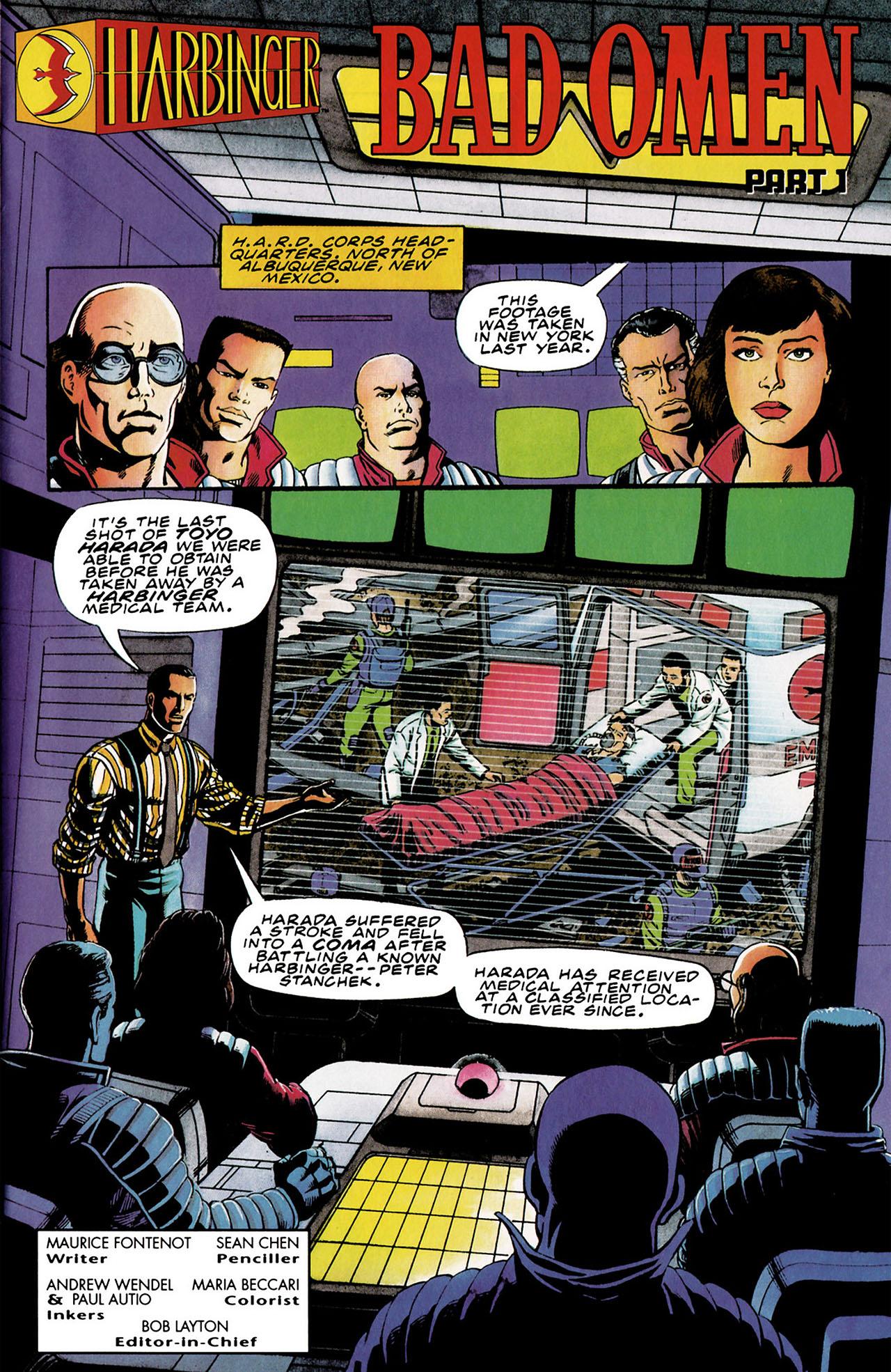 Read online Harbinger (1992) comic -  Issue #30 - 2