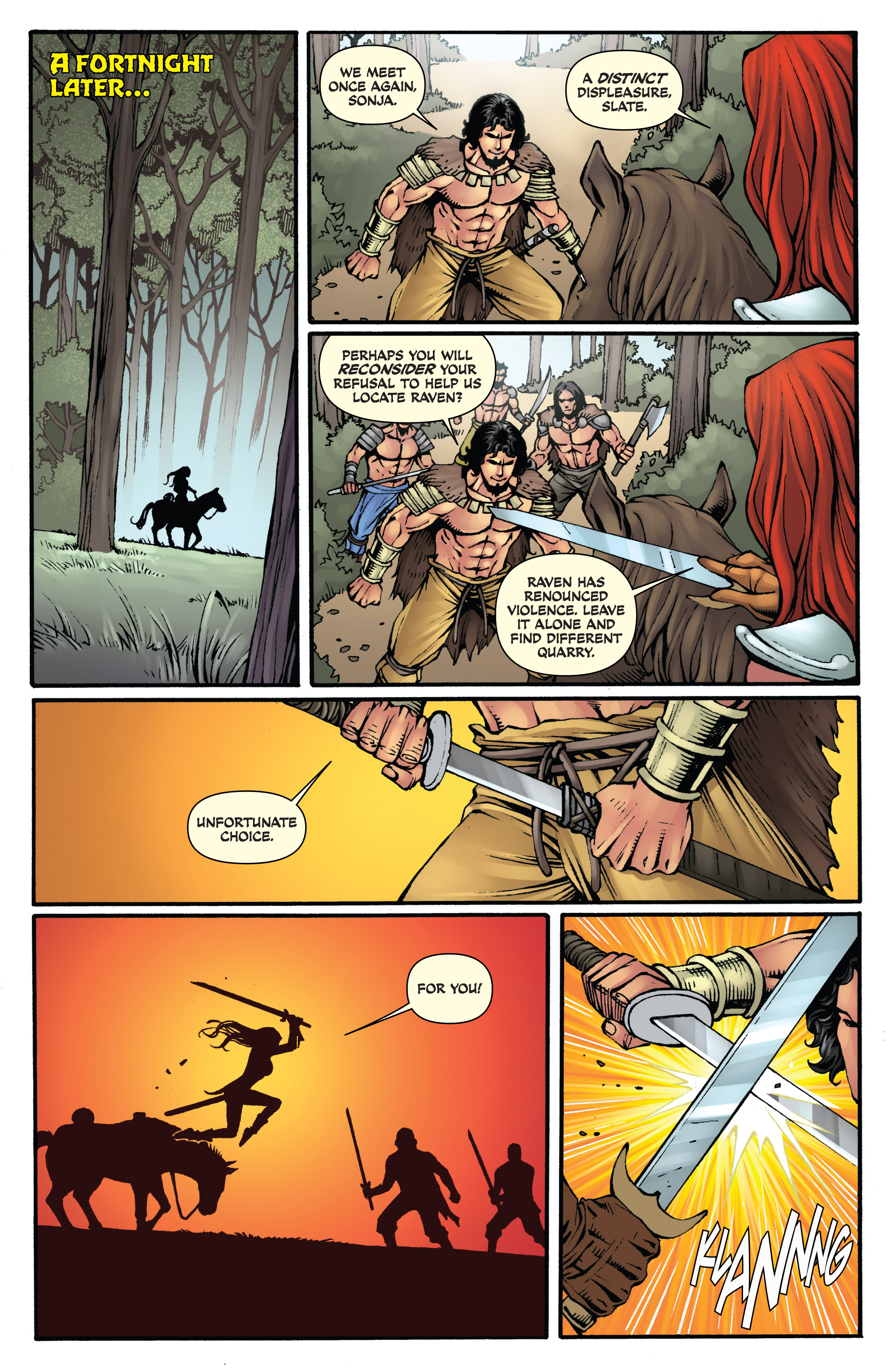 Read online Red Sonja: Sanctuary comic -  Issue # Full - 12