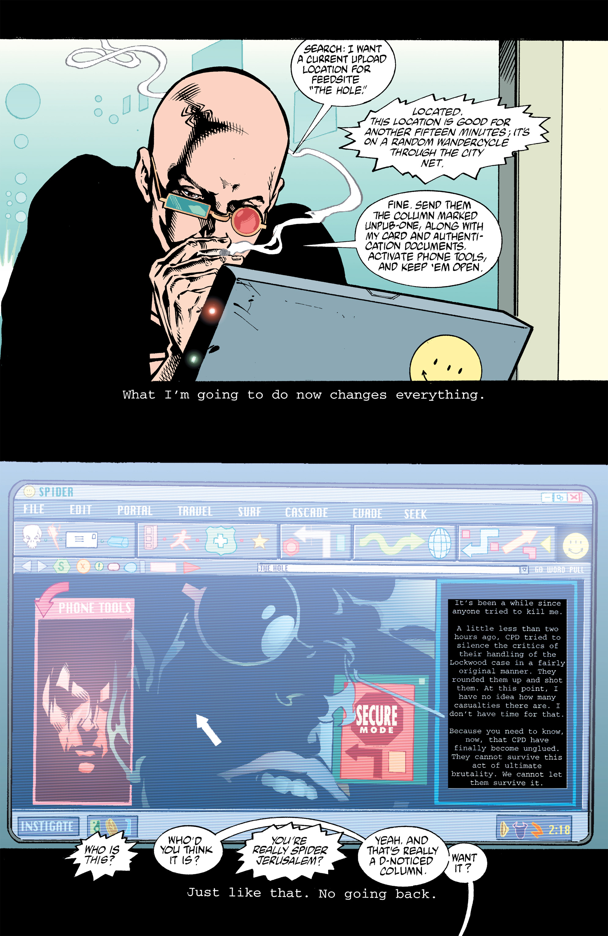 Read online Transmetropolitan comic -  Issue #32 - 17