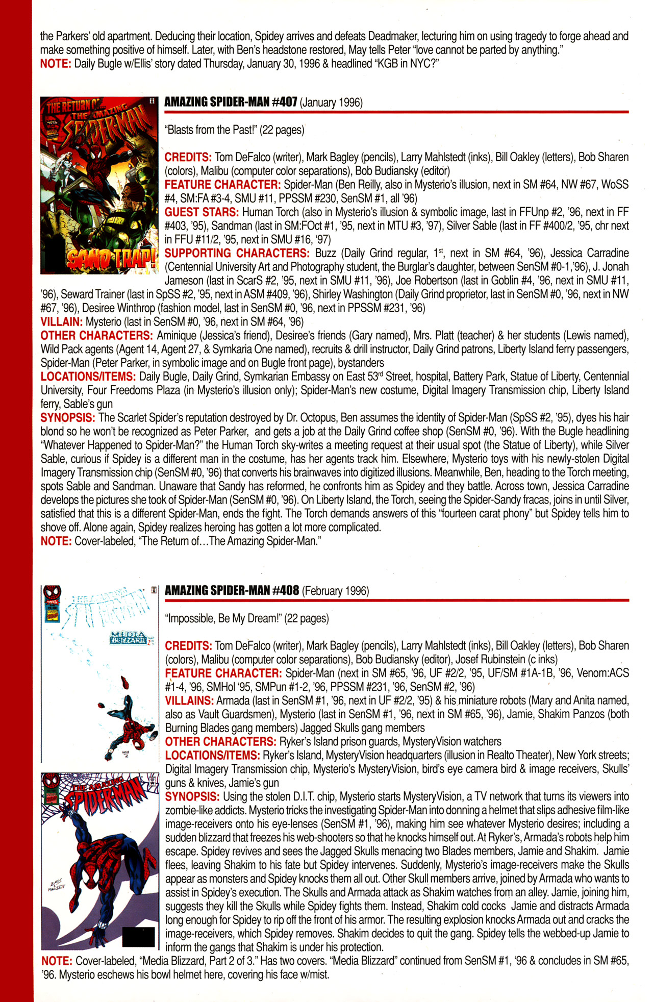Read online Official Index to the Marvel Universe comic -  Issue #10 - 8