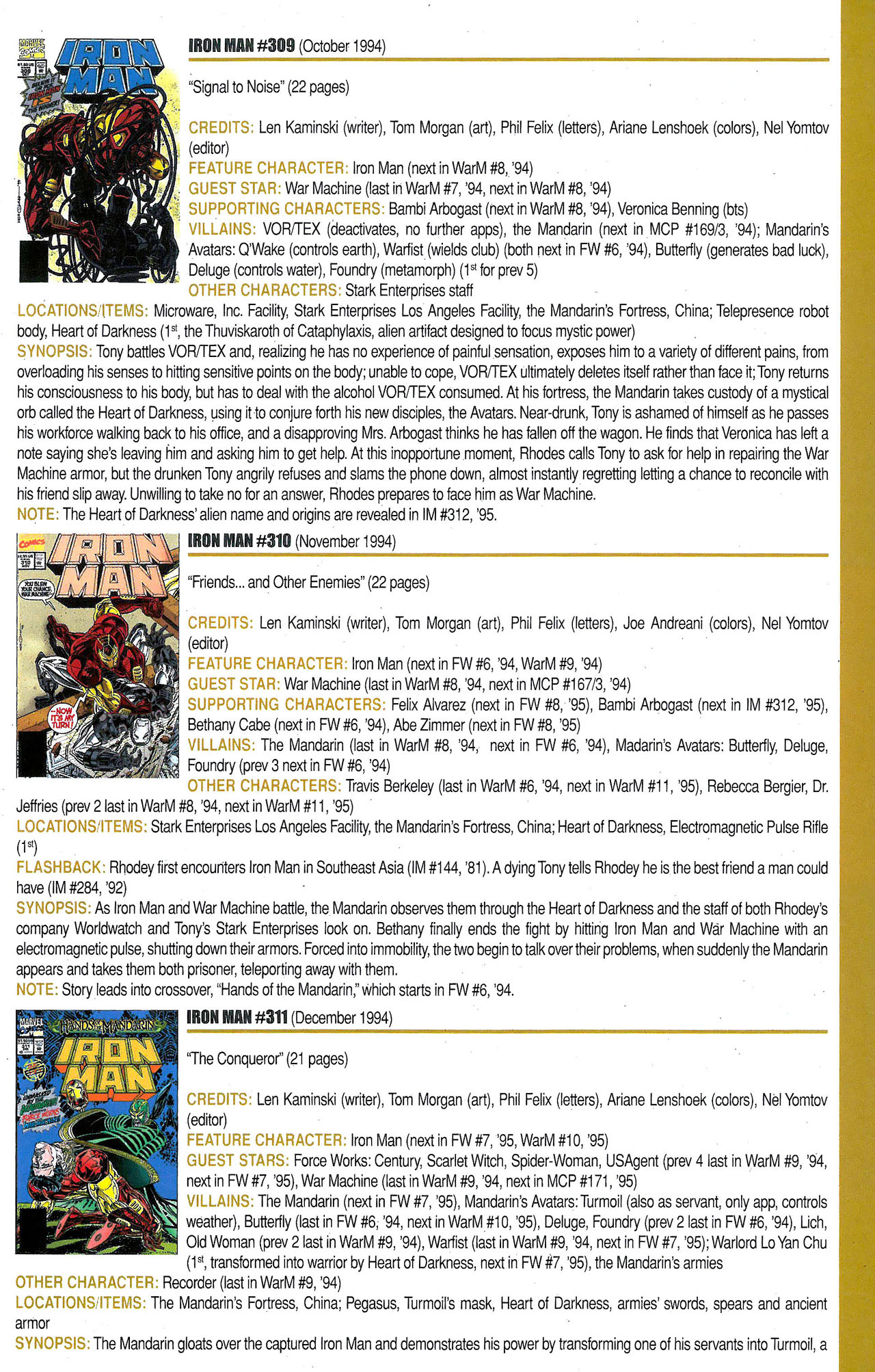 Read online Official Index to the Marvel Universe comic -  Issue #9 - 29