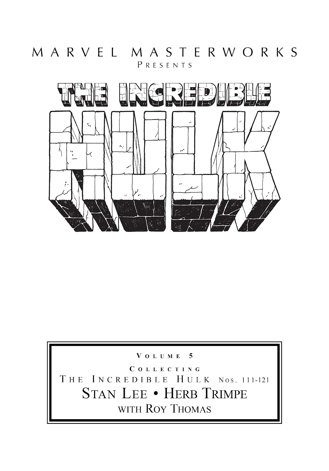 Read online Marvel Masterworks: The Incredible Hulk comic -  Issue # TPB 5 (Part 1) - 2