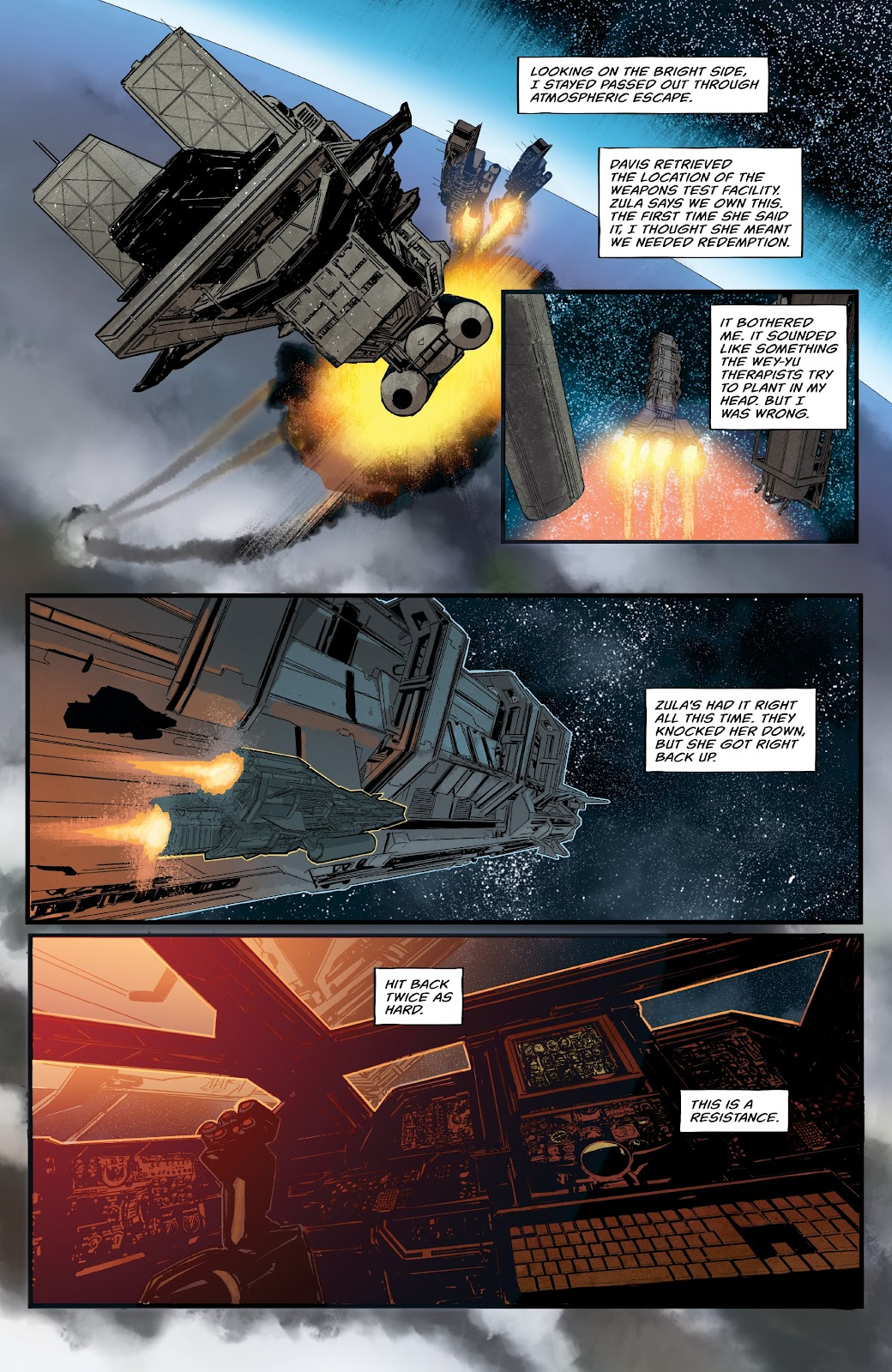 Read online Aliens: Resistance comic -  Issue #1 - 17