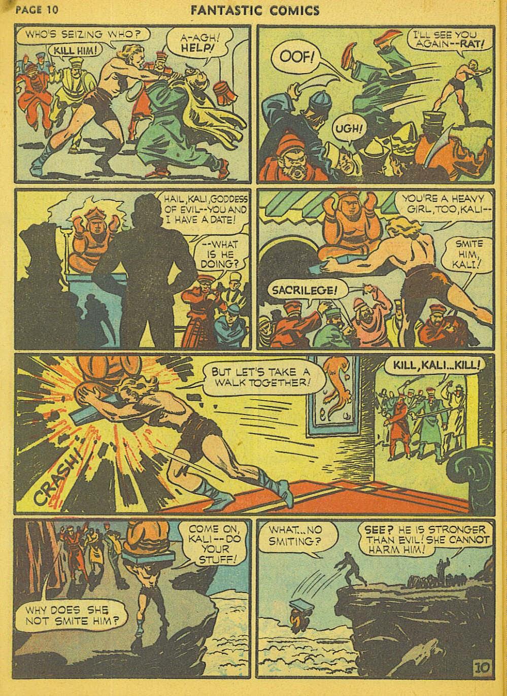 Read online Fantastic Comics comic -  Issue #15 - 3
