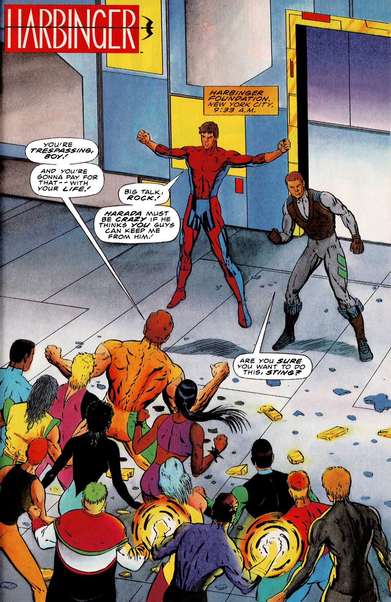 Read online Harbinger (1992) comic -  Issue #25 - 2