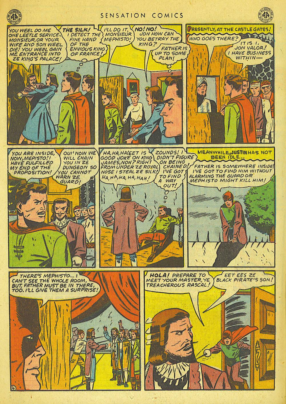 Read online Sensation (Mystery) Comics comic -  Issue #42 - 28