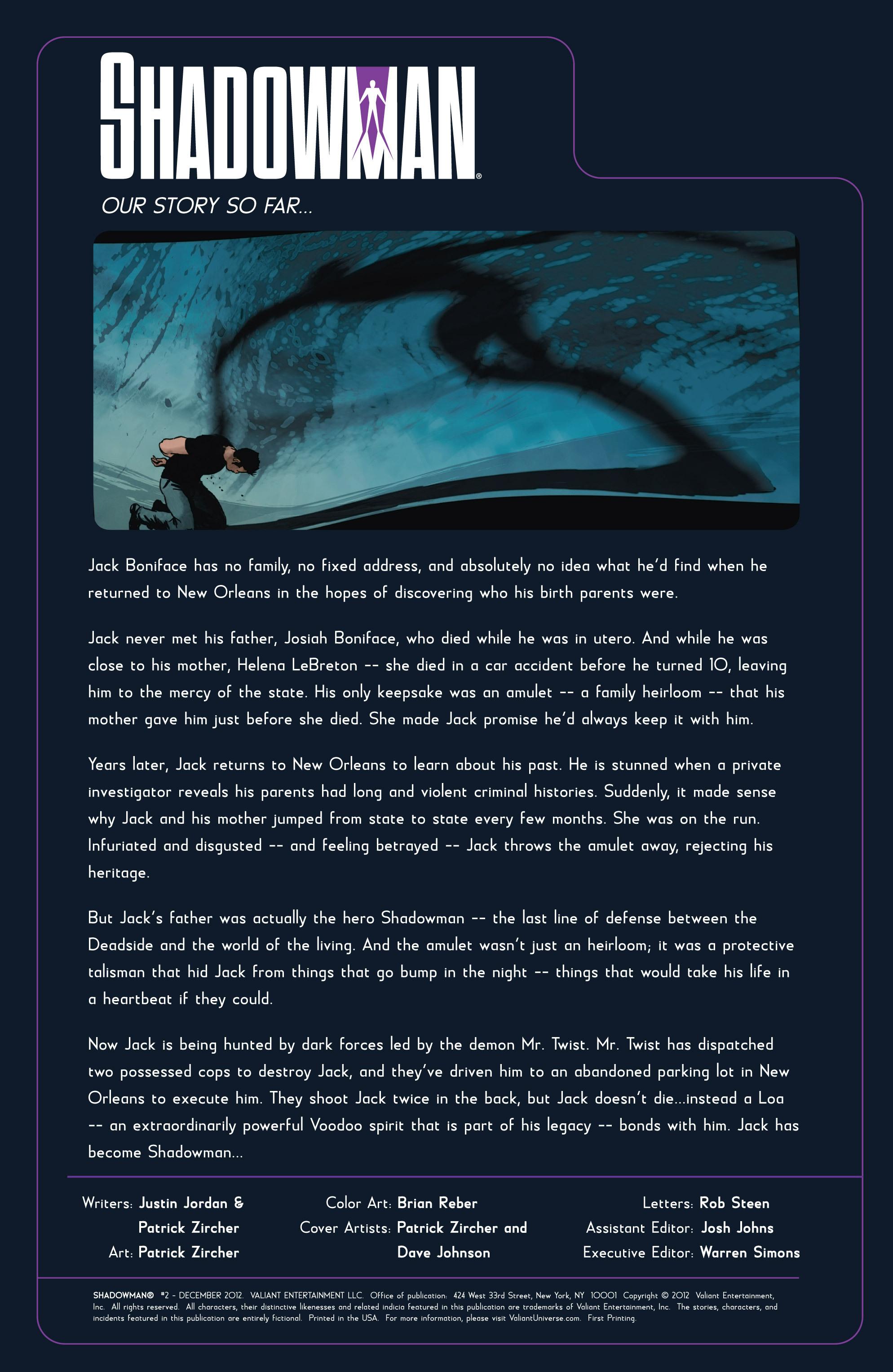 Read online Shadowman (2012) comic -  Issue #2 - 2