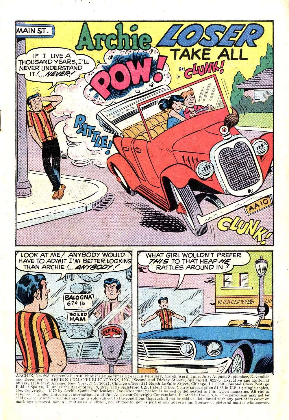 Read online Archie (1960) comic -  Issue #203 - 3