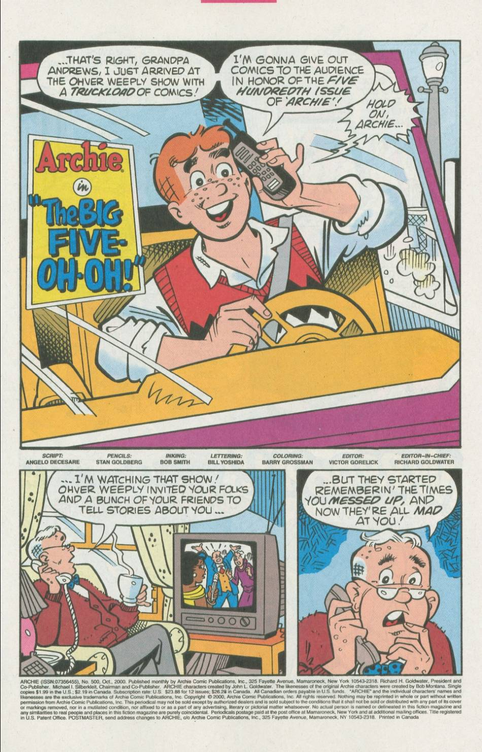 Read online Archie (1960) comic -  Issue #500 - 2