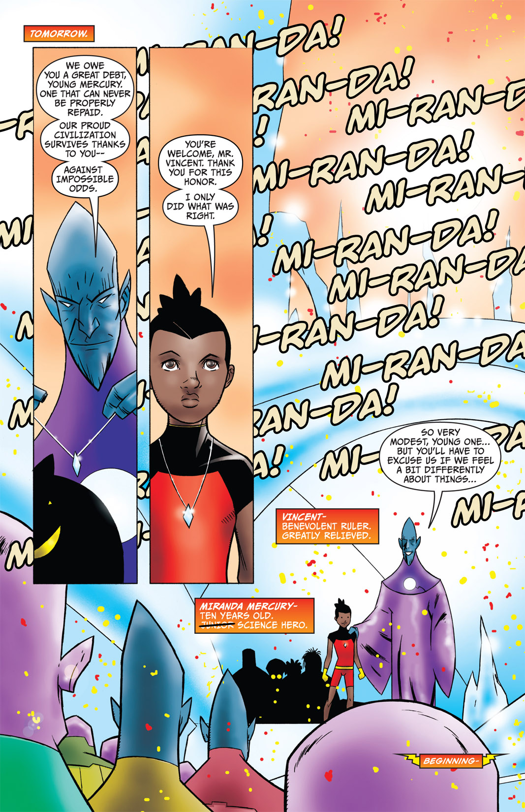 Read online The Many Adventures of Miranda Mercury: Time Runs Out comic -  Issue # TPB - 8