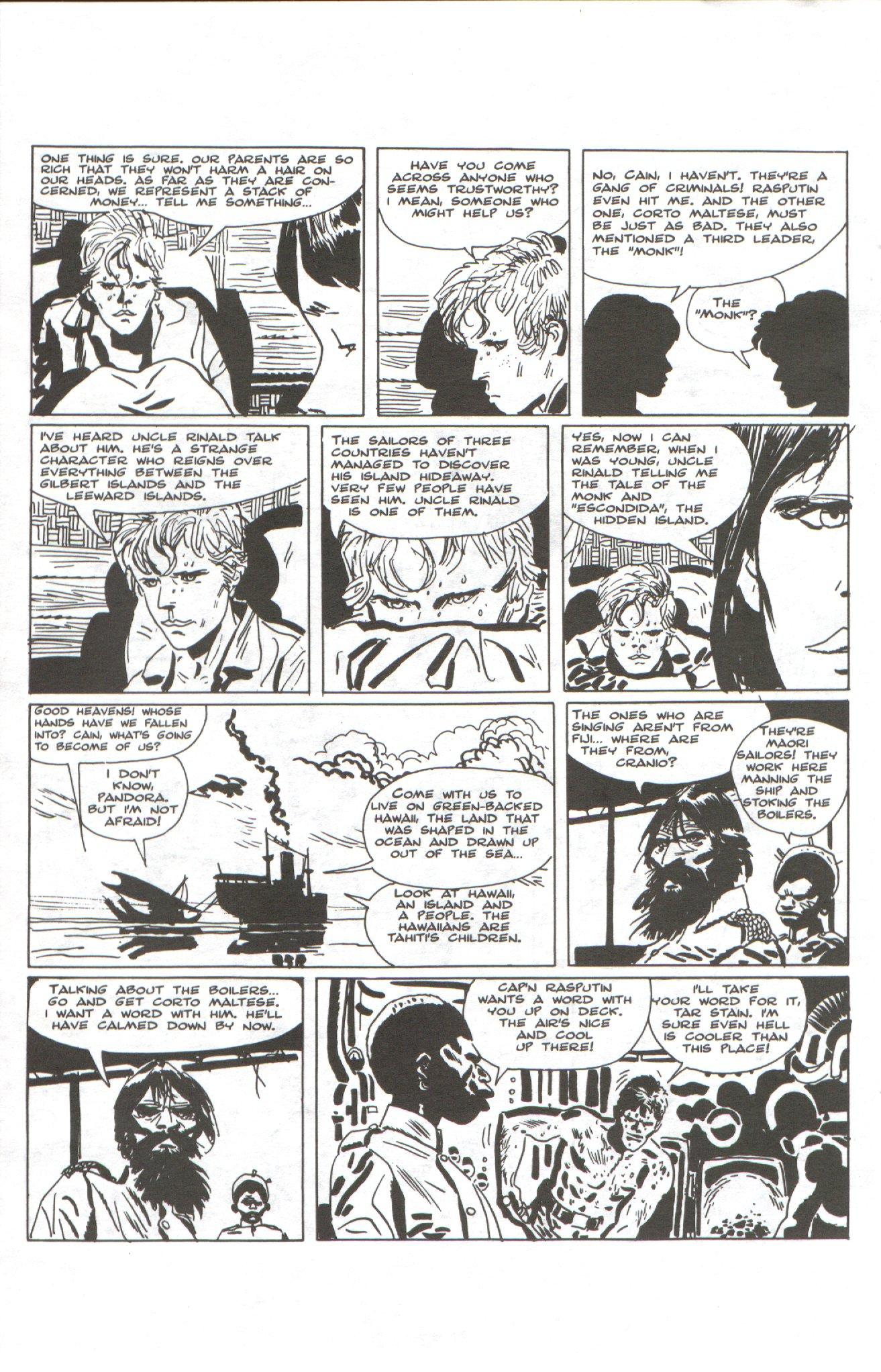 Read online Corto Maltese: Ballad of the Salt Sea comic -  Issue #1 - 16