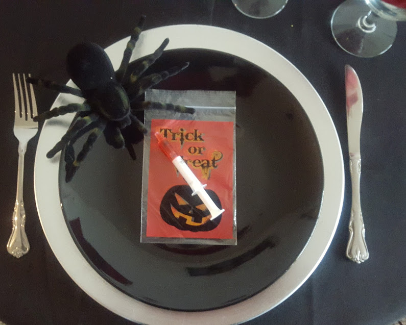 Scary Halloween Tablescape Decoration