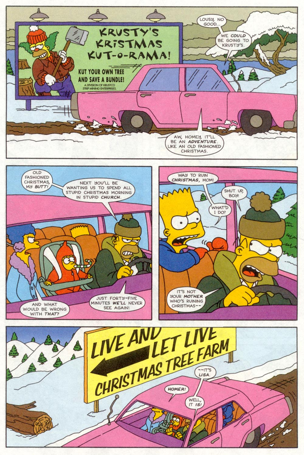 Read online Treehouse of Horror comic -  Issue #4 - 4