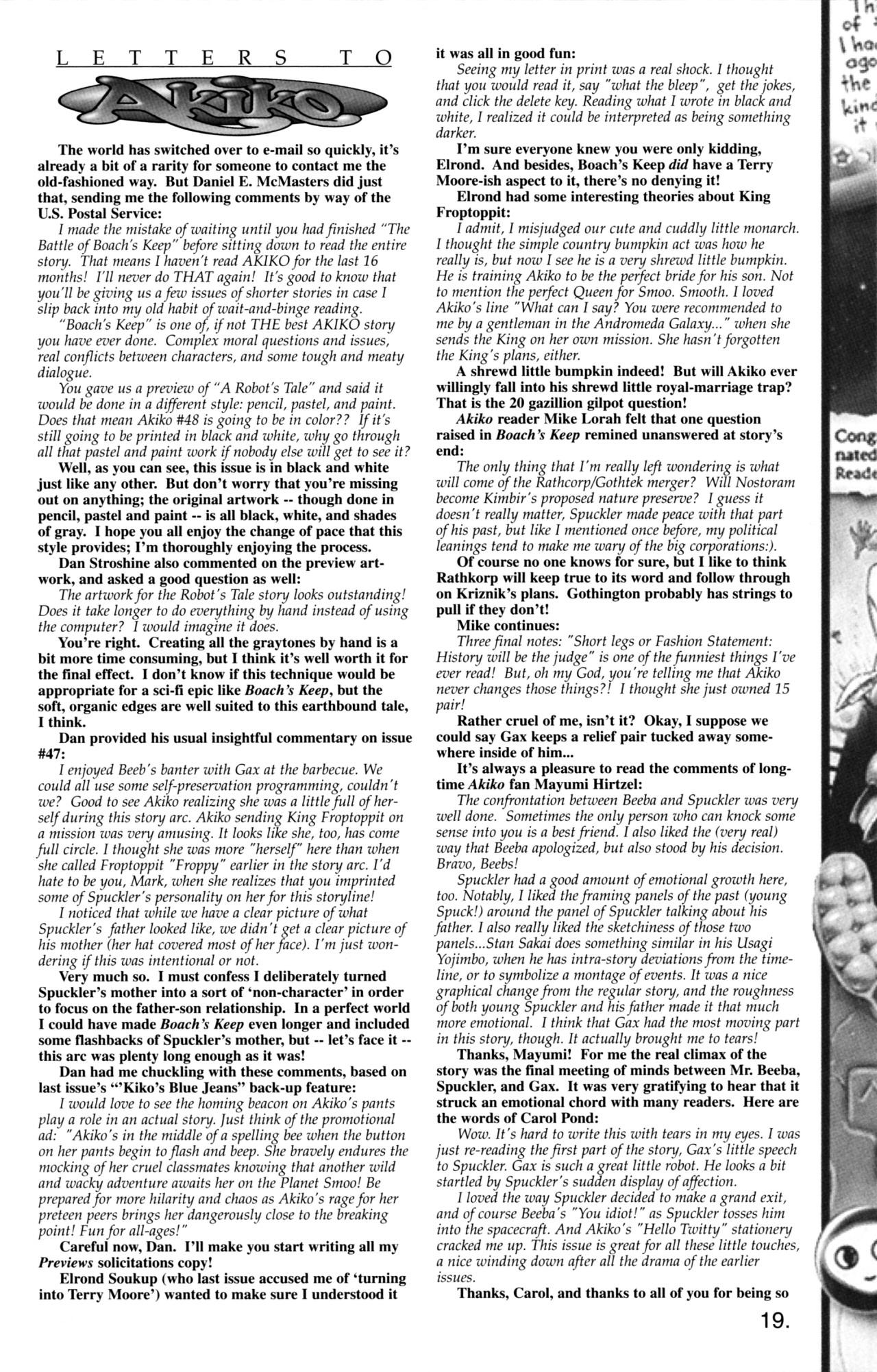 Read online Akiko comic -  Issue #48 - 13