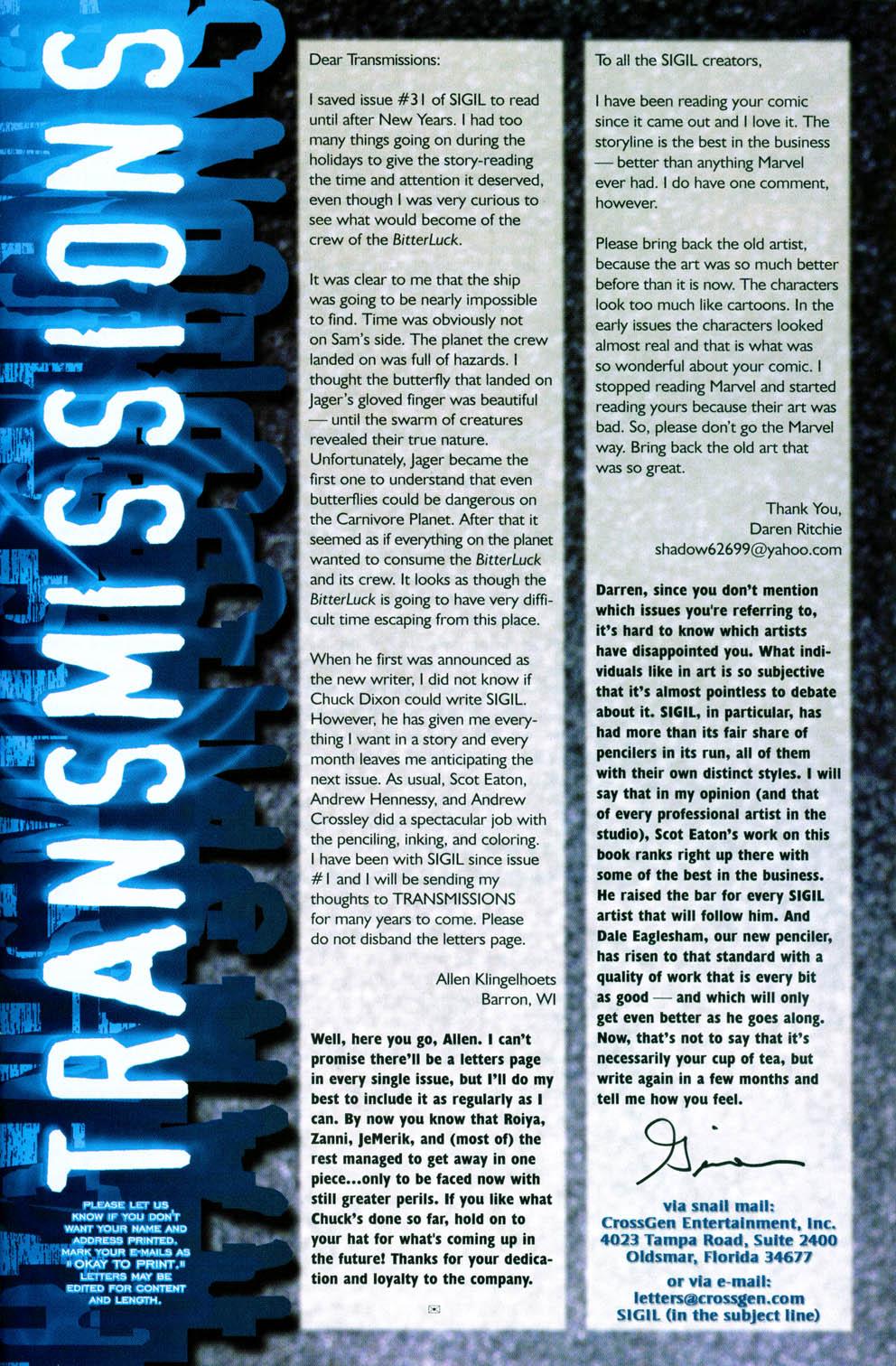 Read online Sigil (2000) comic -  Issue #36 - 25