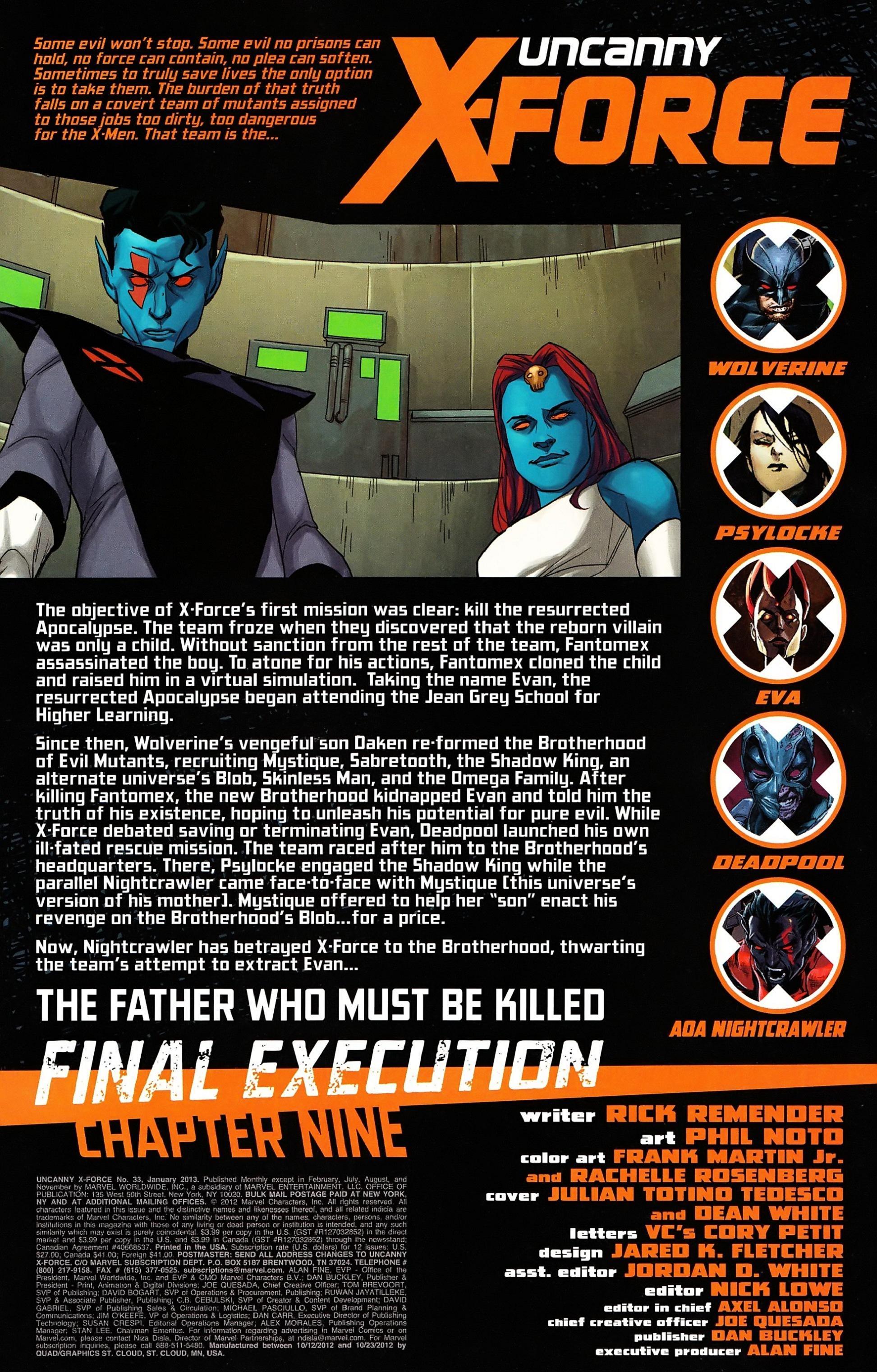 Uncanny X-Force (2010) #33 #35 - English 3