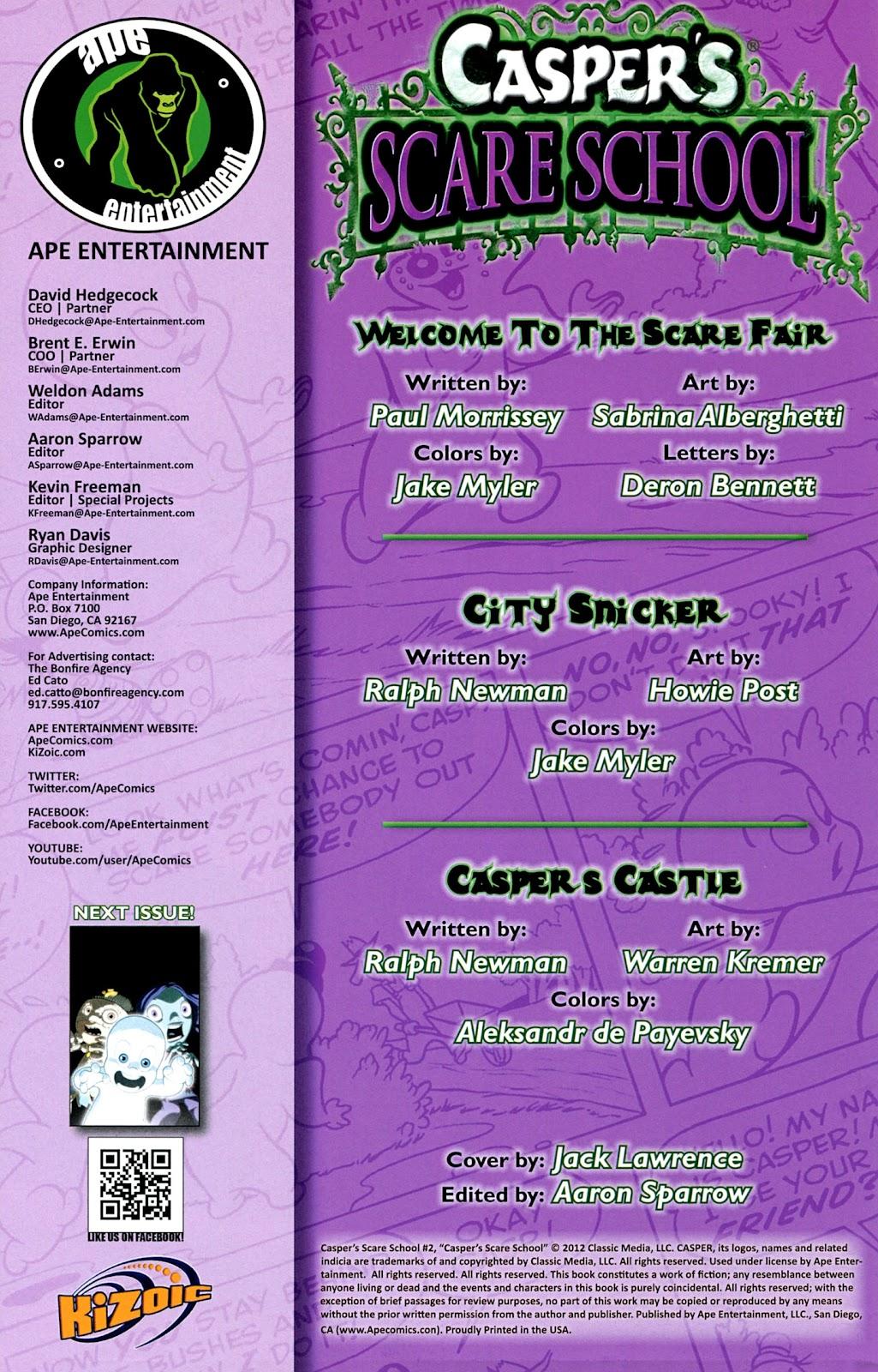 Read online Casper's Scare School comic -  Issue #2 - 2
