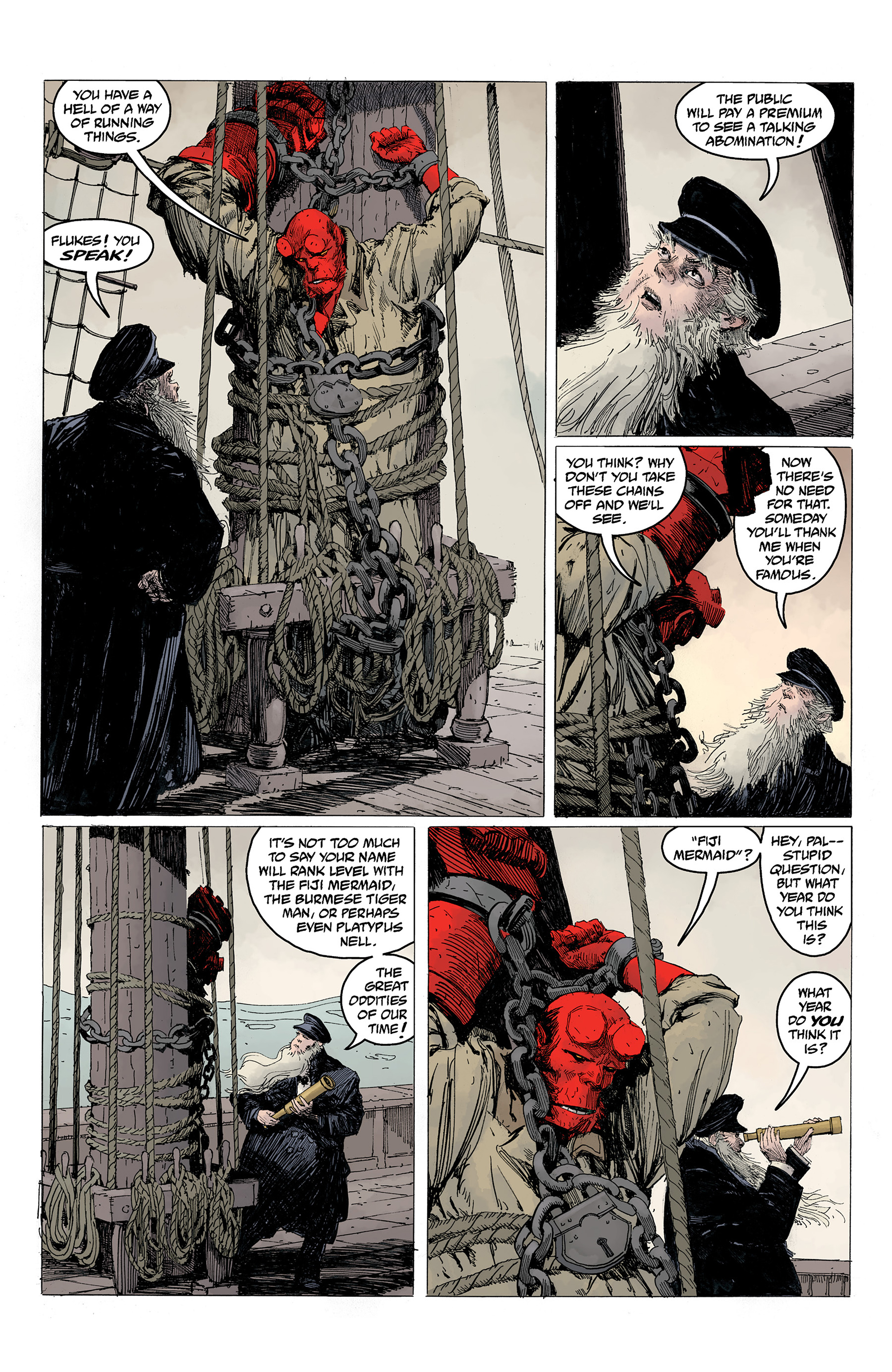 Read online Hellboy: Into the Silent Sea comic -  Issue # Full - 17