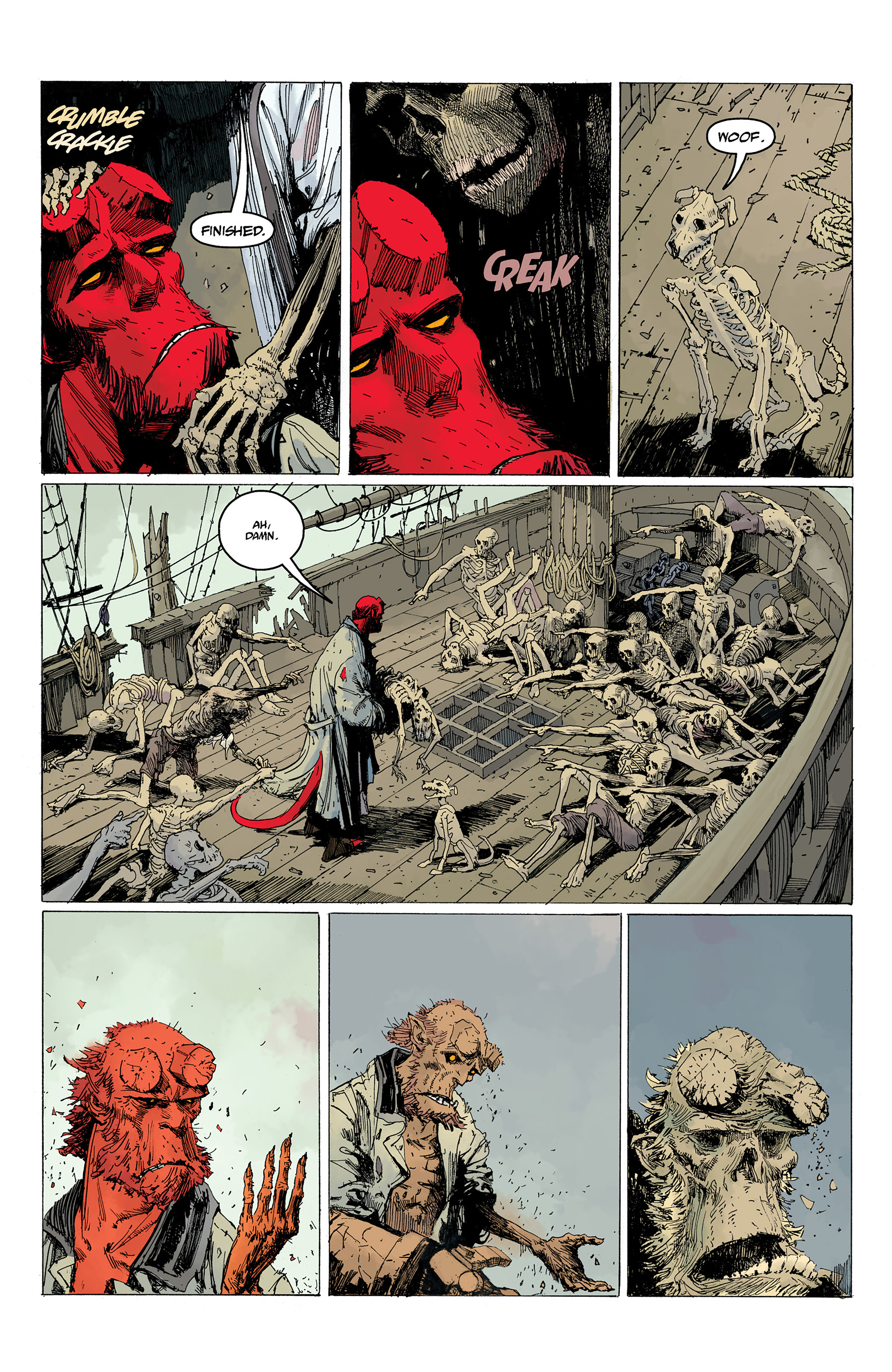 Read online Hellboy: Into the Silent Sea comic -  Issue # Full - 55