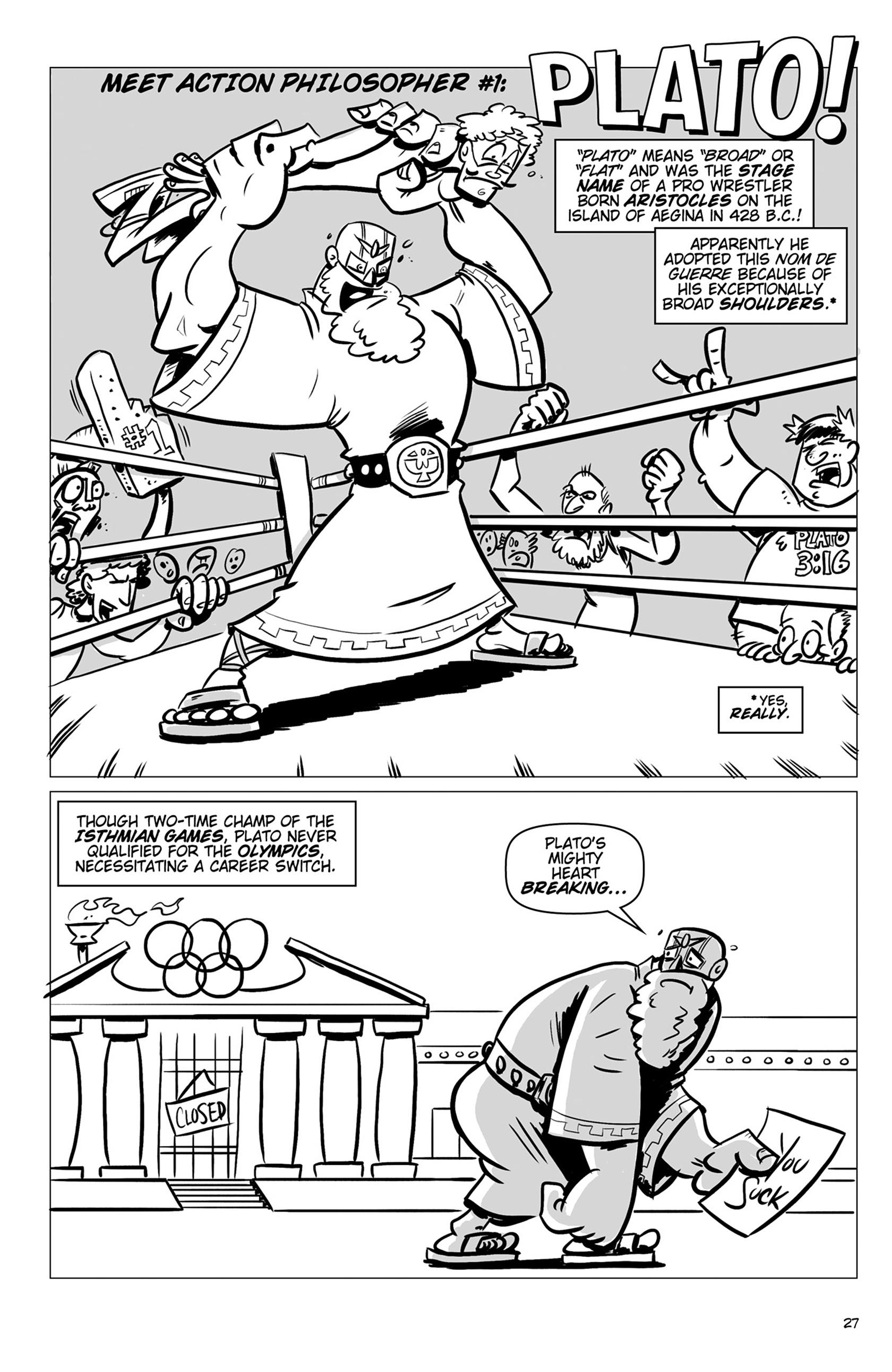 Read online Action Philosophers! comic -  Issue #Action Philosophers! TPB (Part 1) - 27
