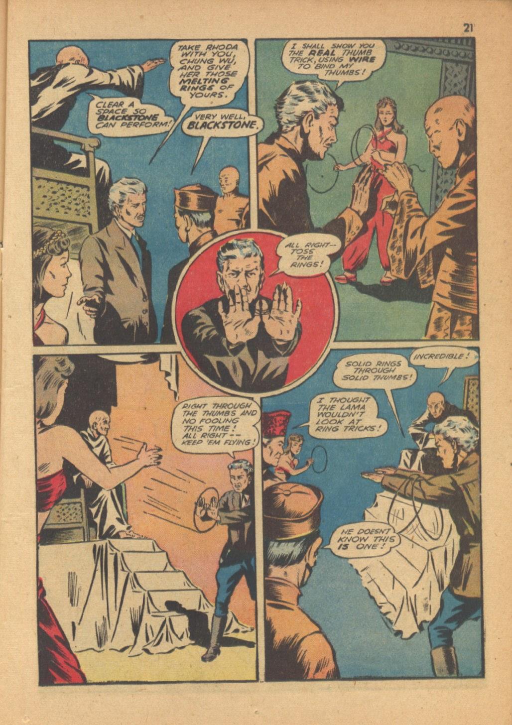 Read online Super-Magician Comics comic -  Issue #13 - 21
