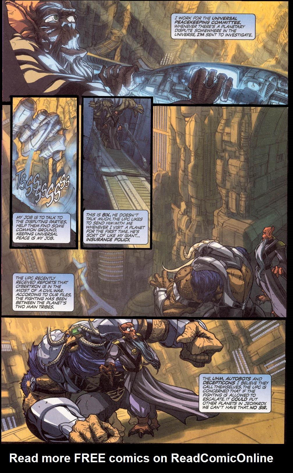 Read online Transformers Armada comic -  Issue #0 - 3