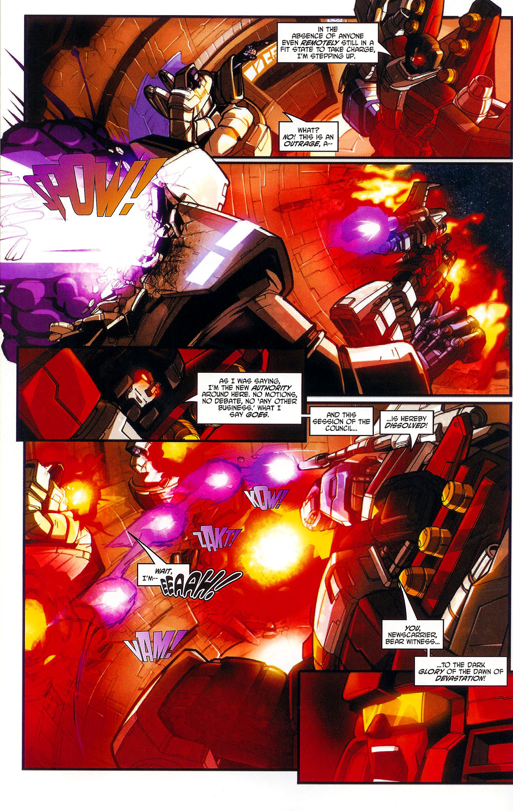 """Read online Transformers War Within: """"The Age of Wrath"""" comic -  Issue #1 - 19"""