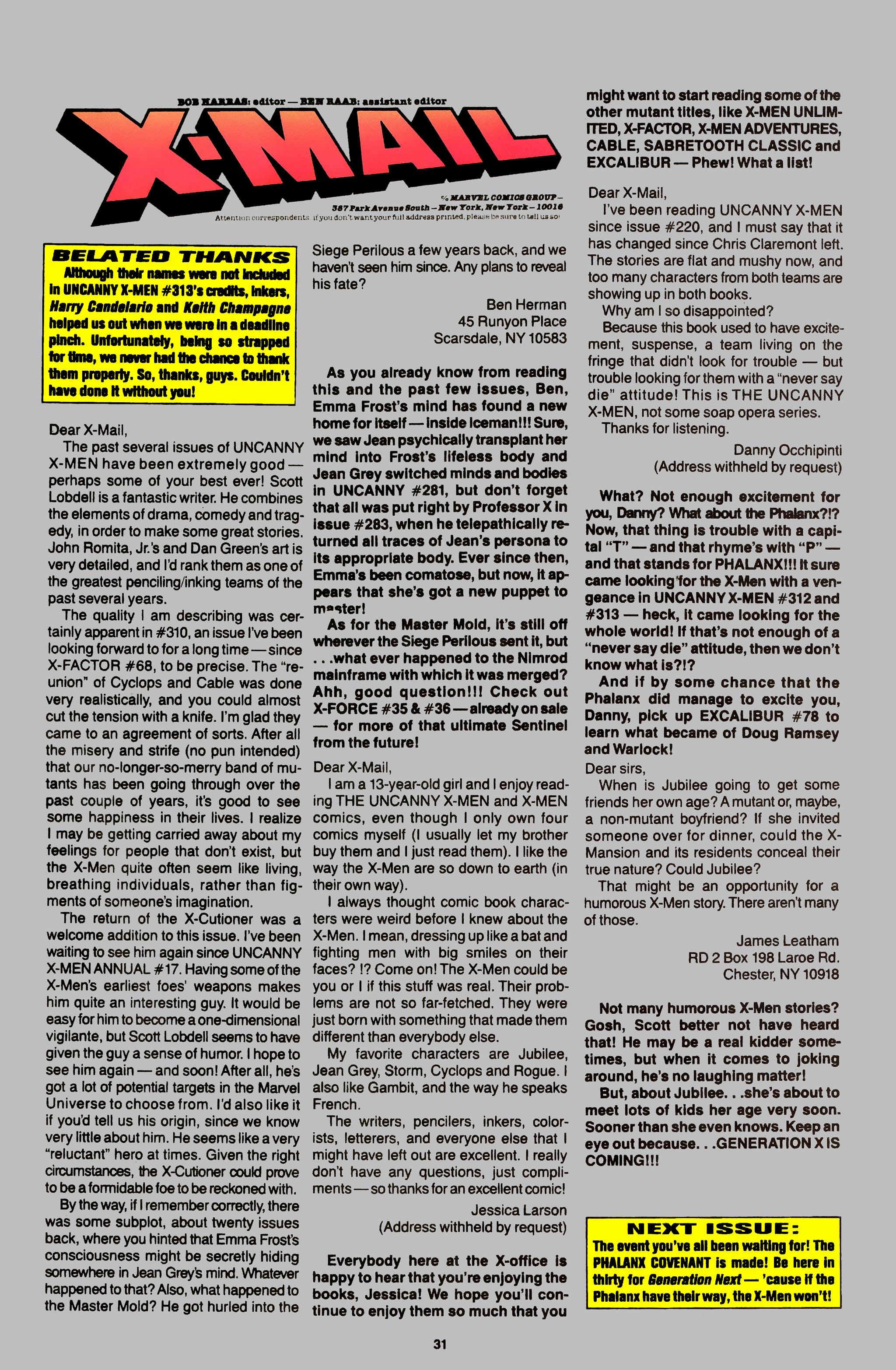 Read online Uncanny X-Men (1963) comic -  Issue #315 - 23