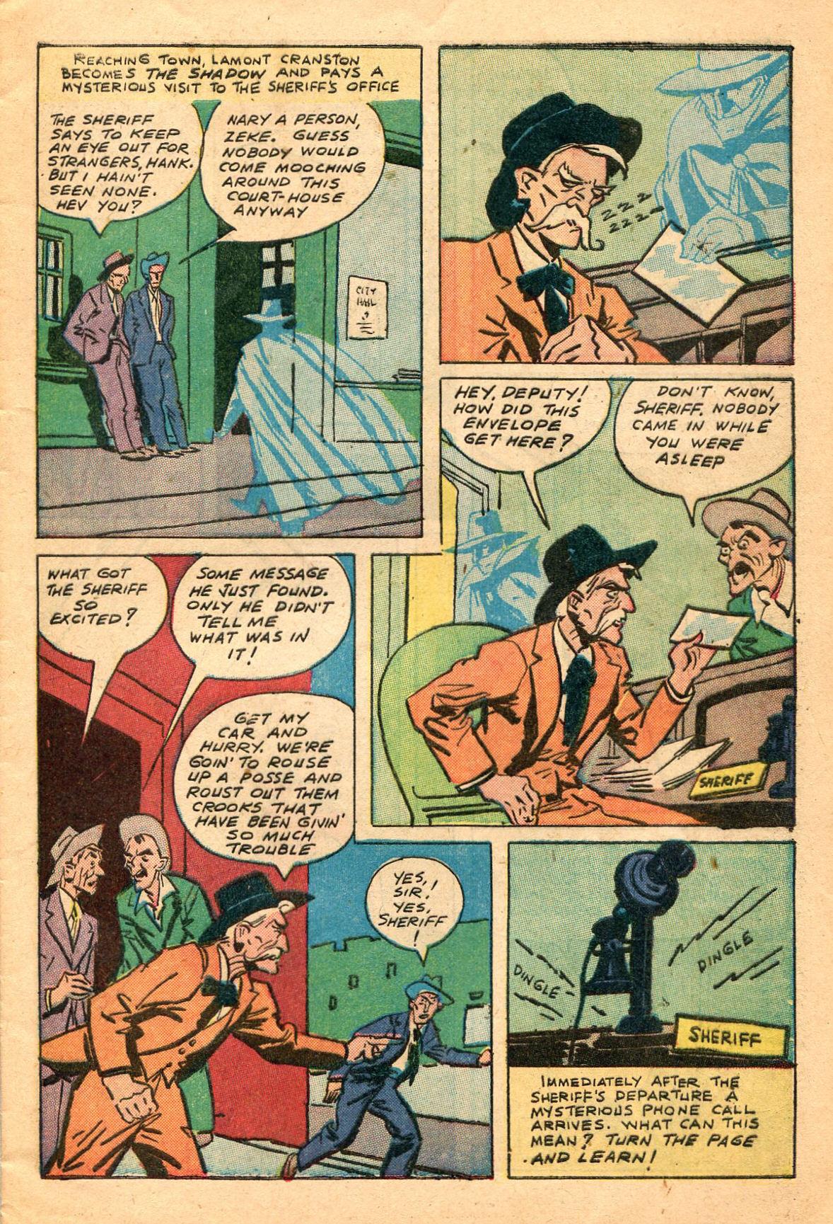 Read online Shadow Comics comic -  Issue #60 - 9