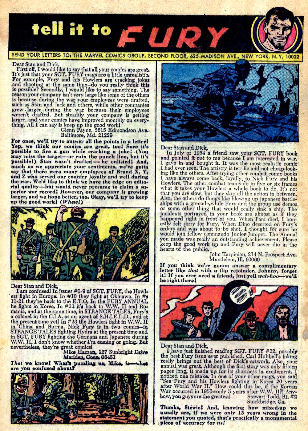 Read online Sgt. Fury comic -  Issue #25 - 32