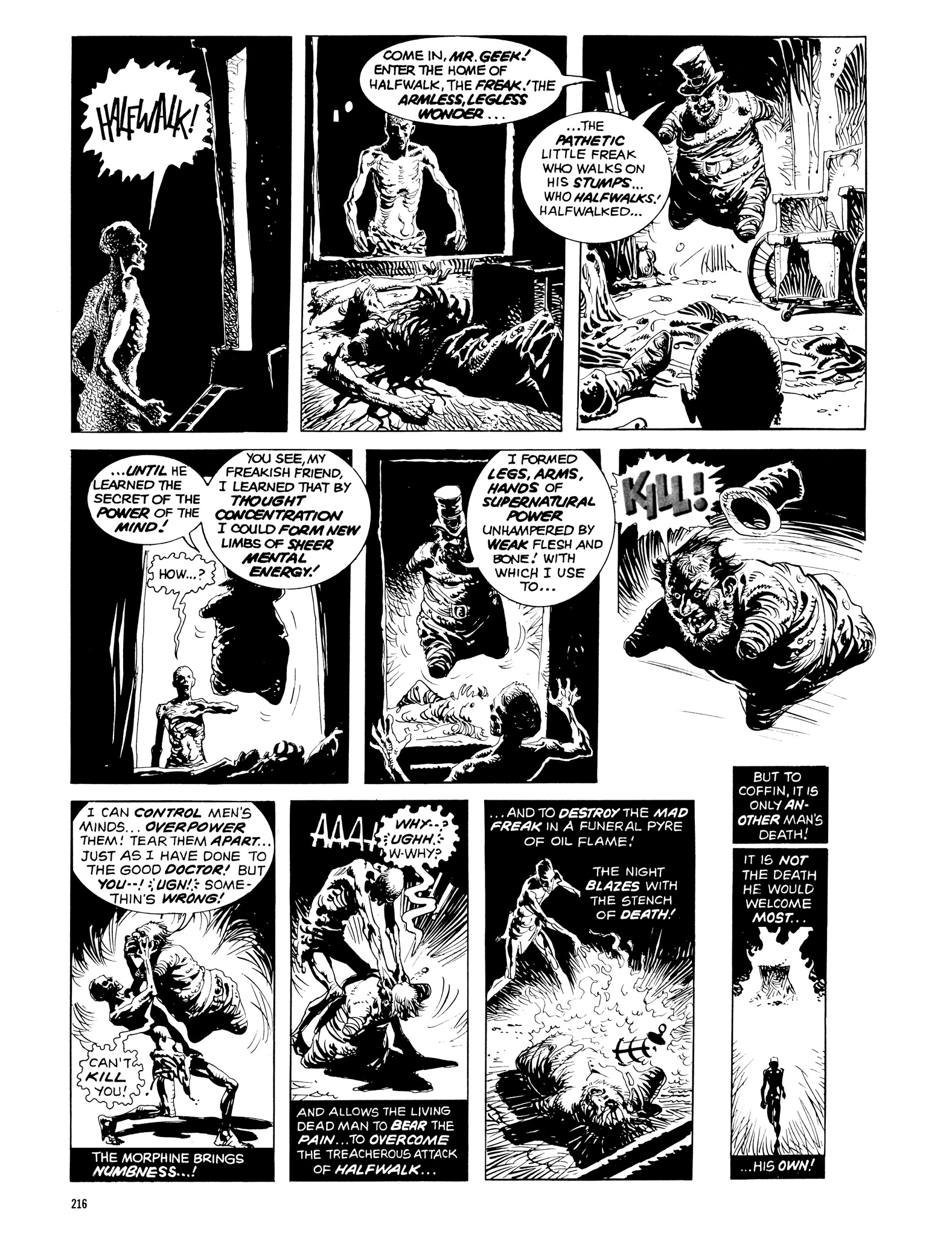 Read online Eerie Archives comic -  Issue # TPB 14 - 217