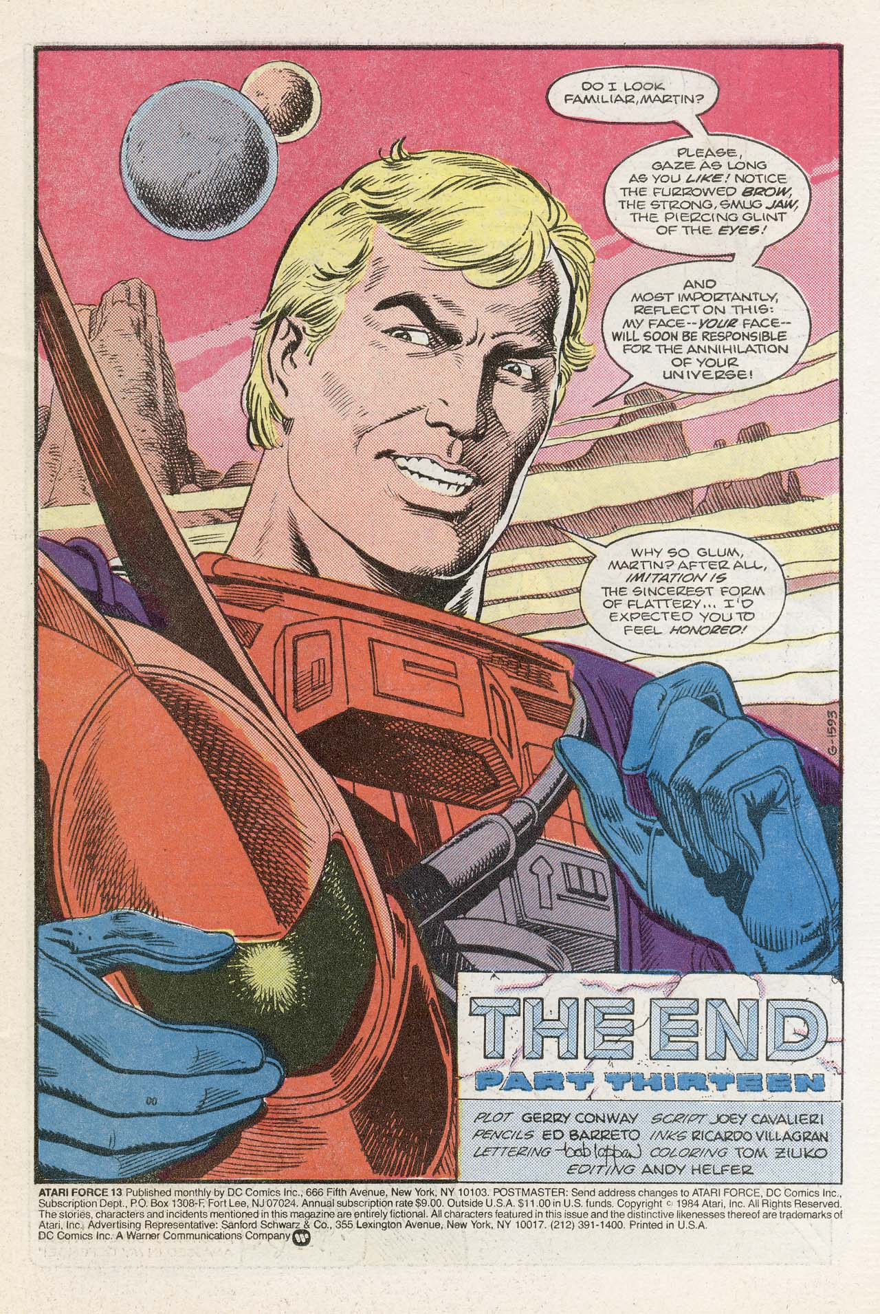 Read online Atari Force (1984) comic -  Issue #13 - 3
