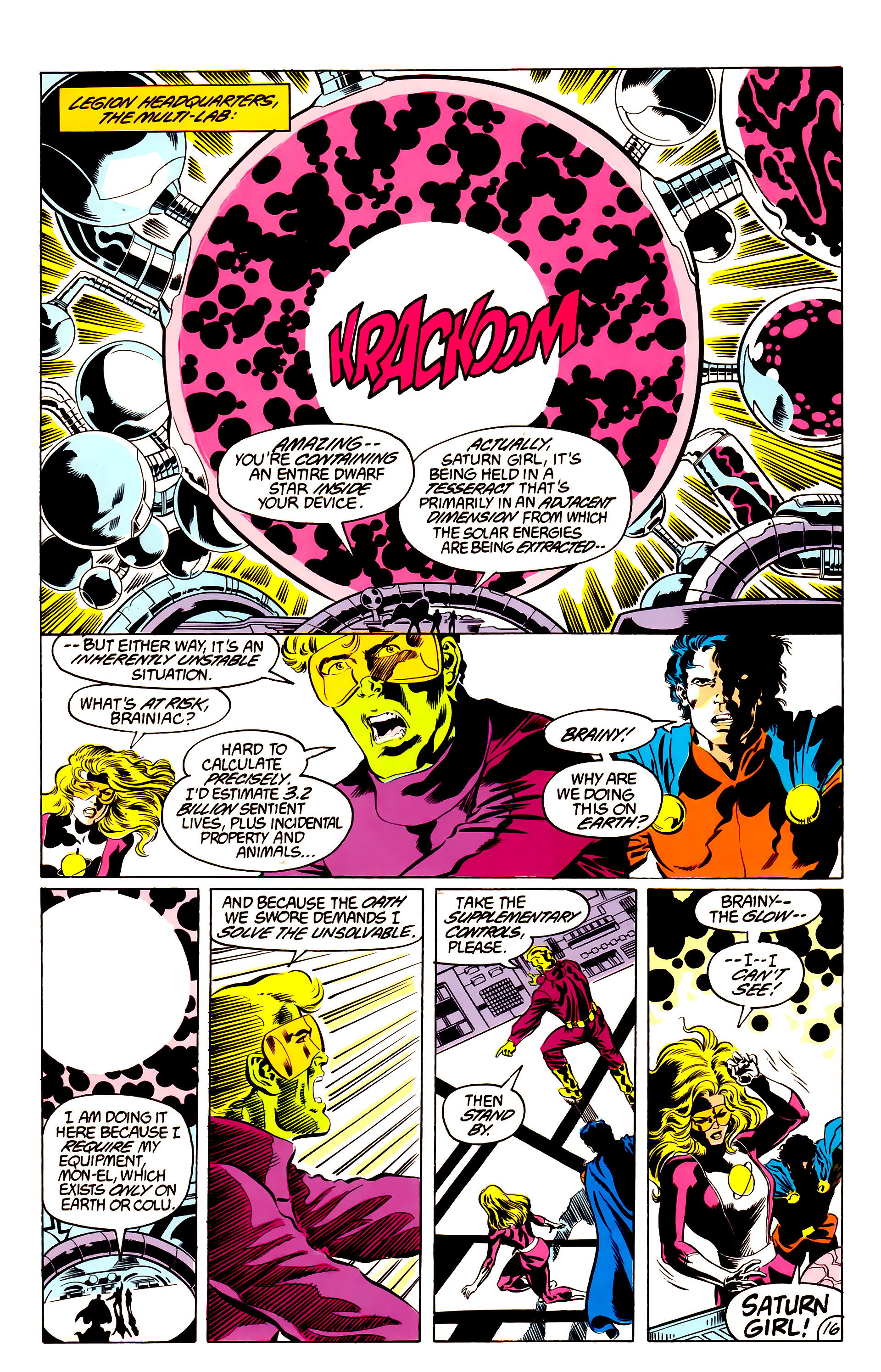 Legion of Super-Heroes (1984) 48 Page 16