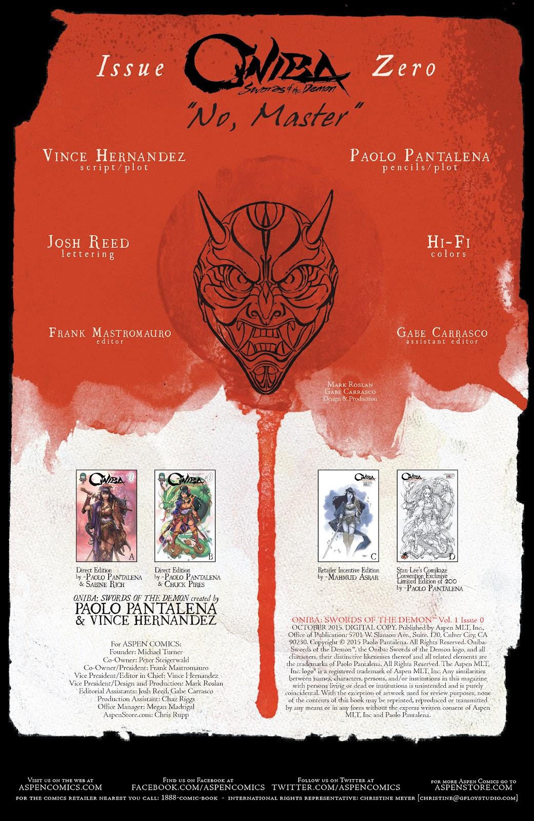 Read online Oniba: Swords of the Demon comic -  Issue # Full - 3