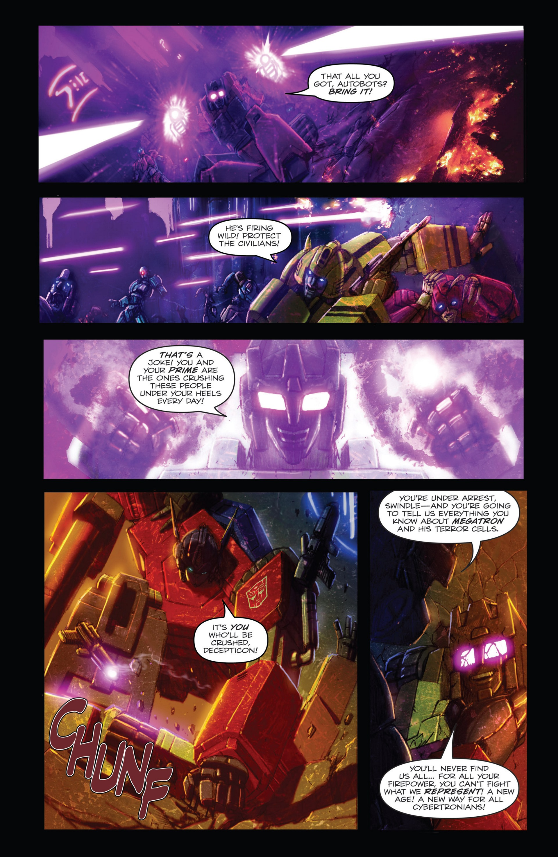 Read online Transformers: Autocracy comic -  Issue # Full - 12