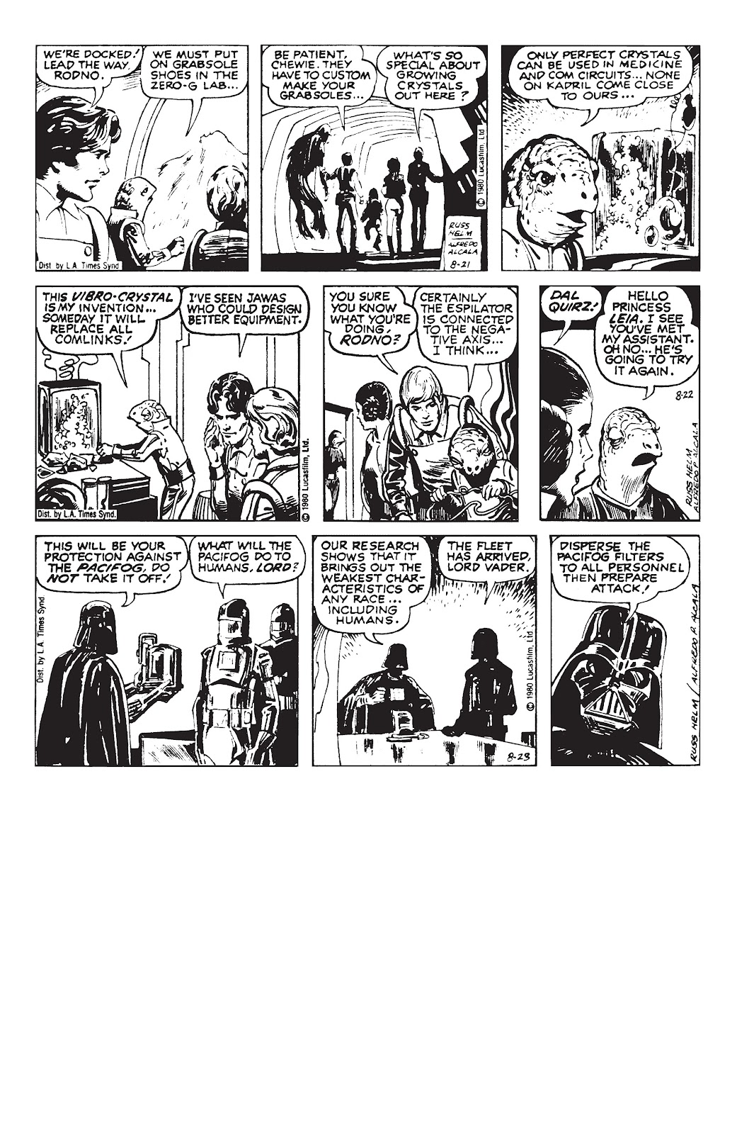 Read online Star Wars Legends: The Newspaper Strips - Epic Collection comic -  Issue # TPB (Part 3) - 85