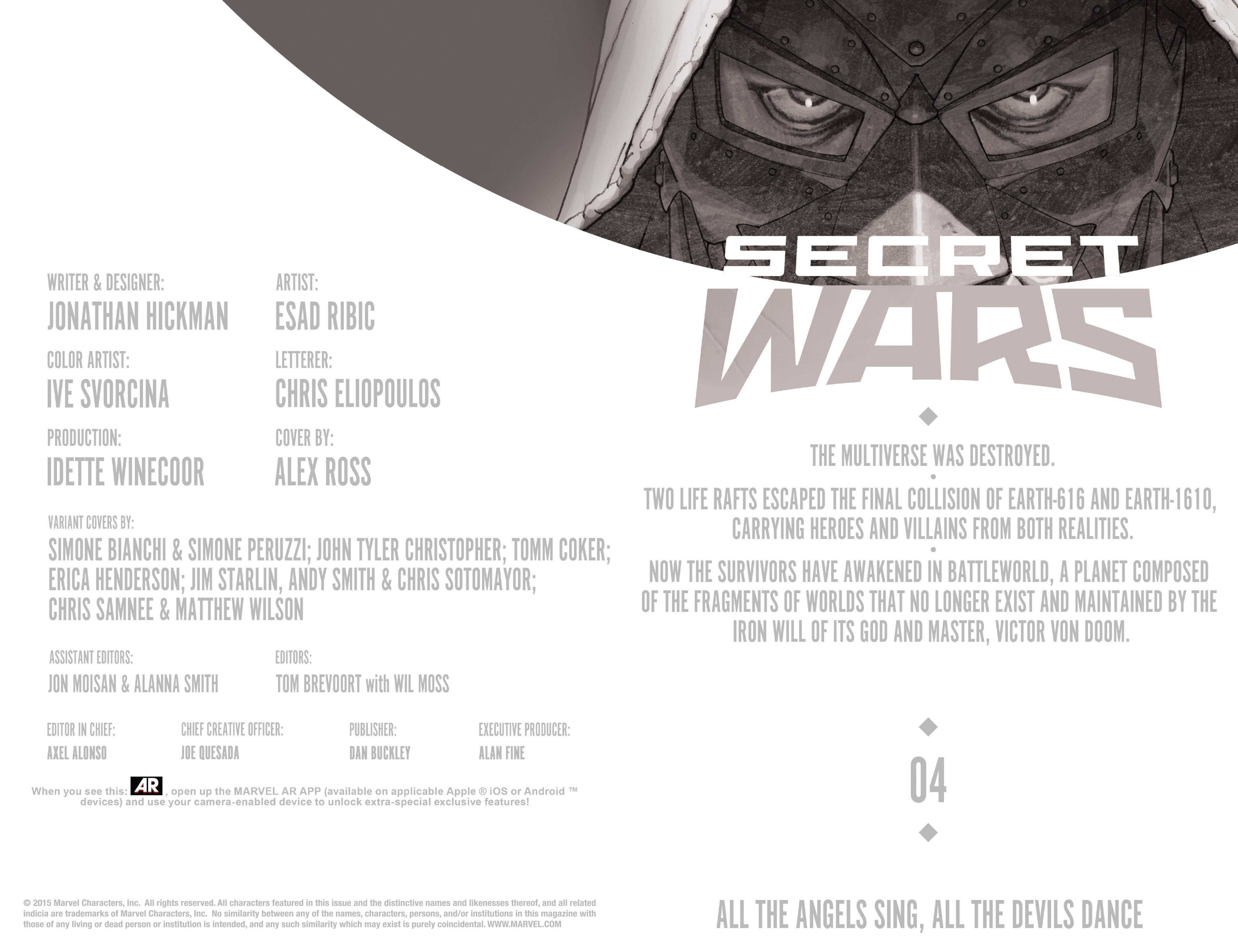 Read online Secret Wars comic -  Issue #4 - 11