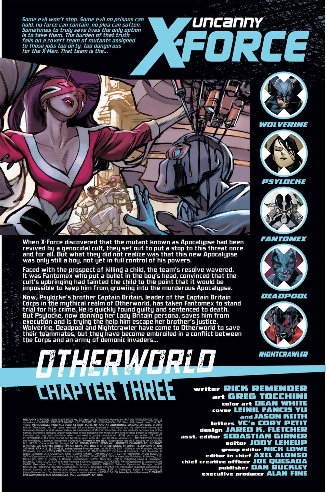 Uncanny X-Force (2010) #22 #24 - English 2
