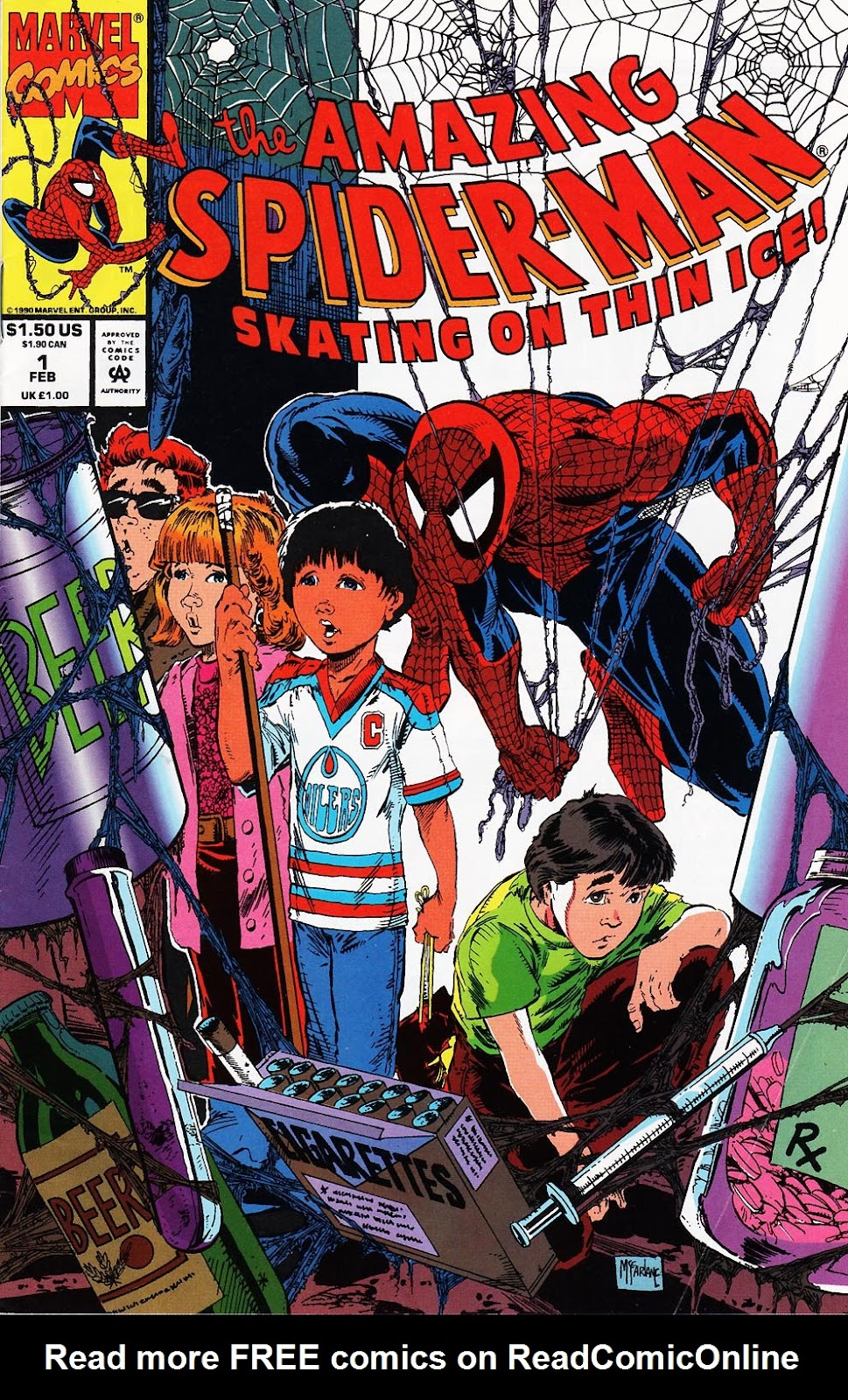 The Amazing Spider-Man: Skating on Thin Ice Full Page 1