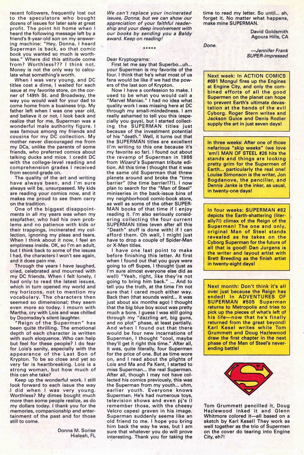Read online Adventures of Superman (1987) comic -  Issue #504 - 25