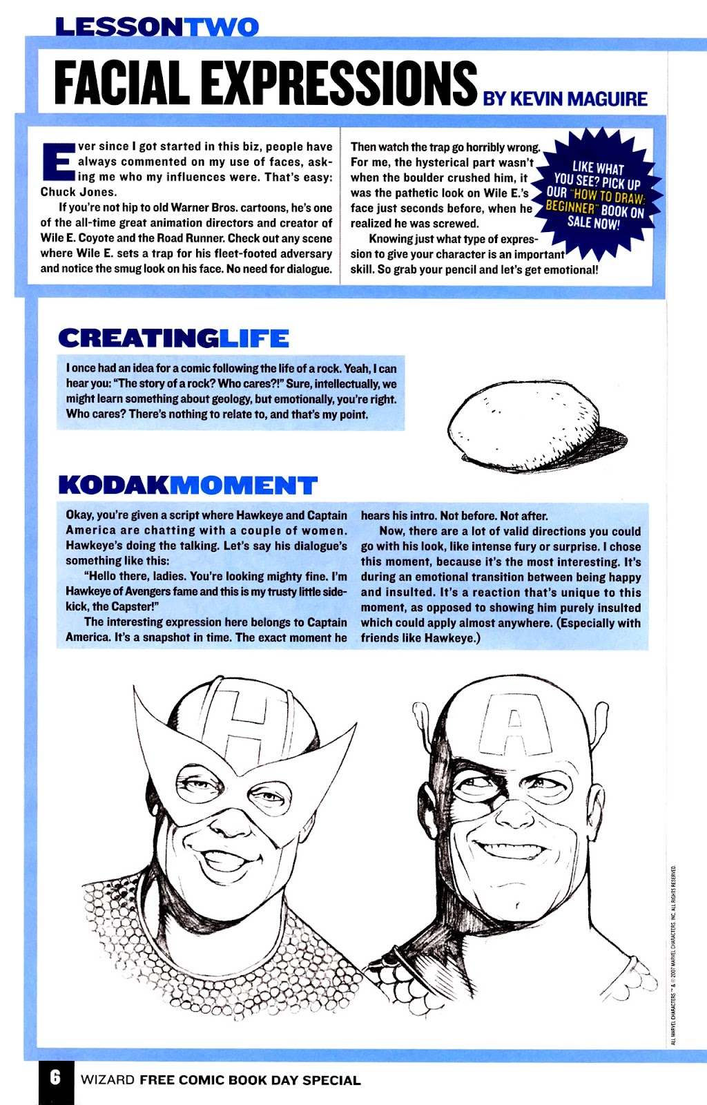 Read online Wizard How to Draw Sampler comic -  Issue # Full - 7