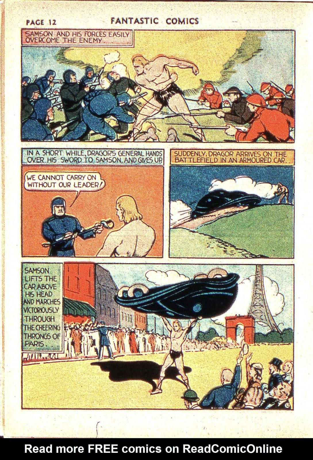 Read online Fantastic Comics comic -  Issue #2 - 14