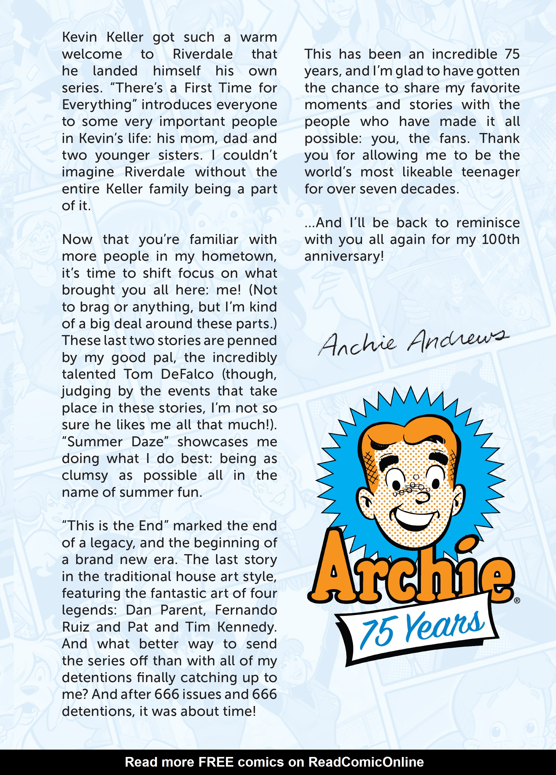 Read online Archie 75th Anniversary Digest comic -  Issue #1 - 140