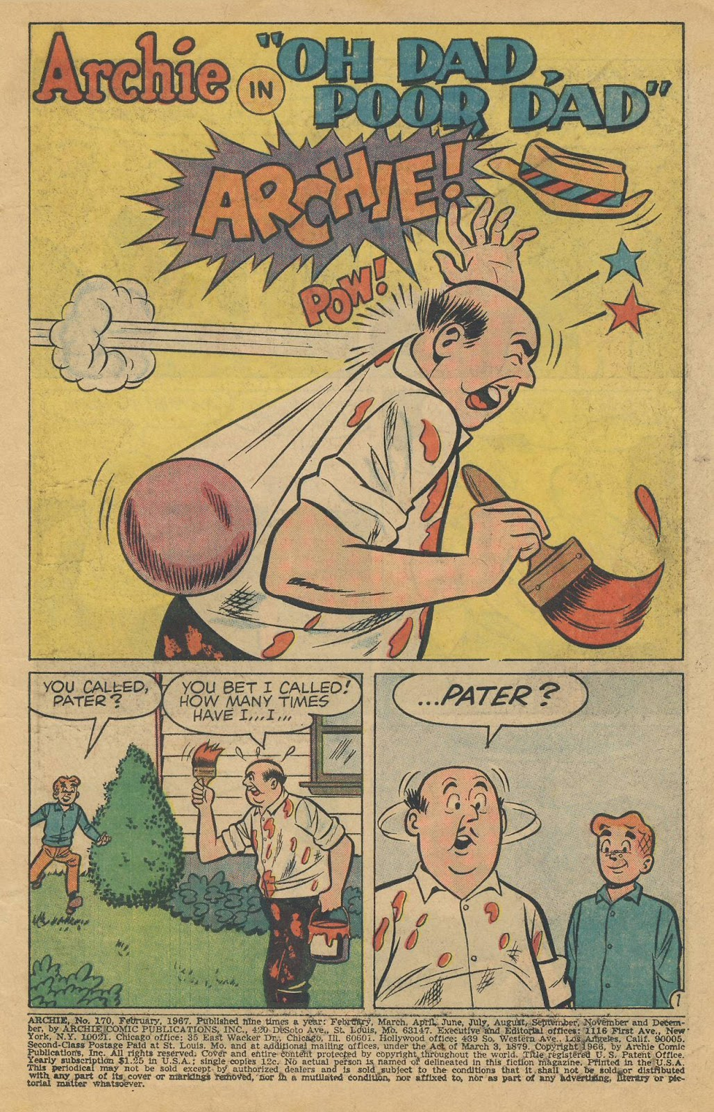Read online Archie (1960) comic -  Issue #170 - 3