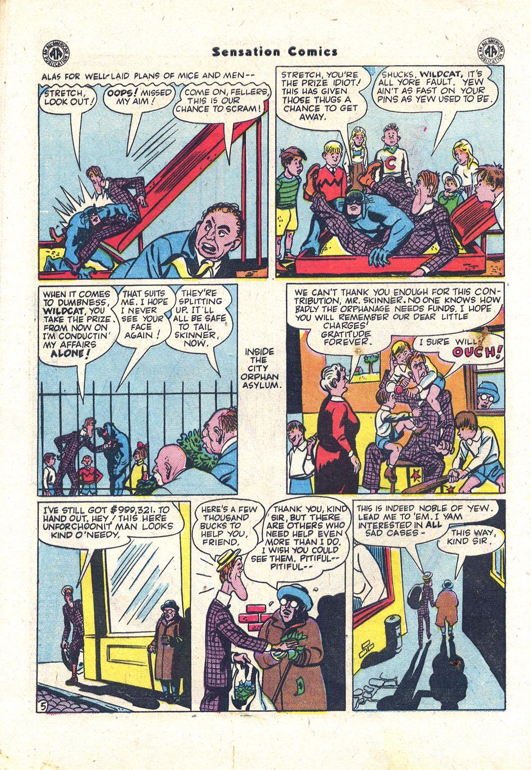 Read online Sensation (Mystery) Comics comic -  Issue #43 - 45
