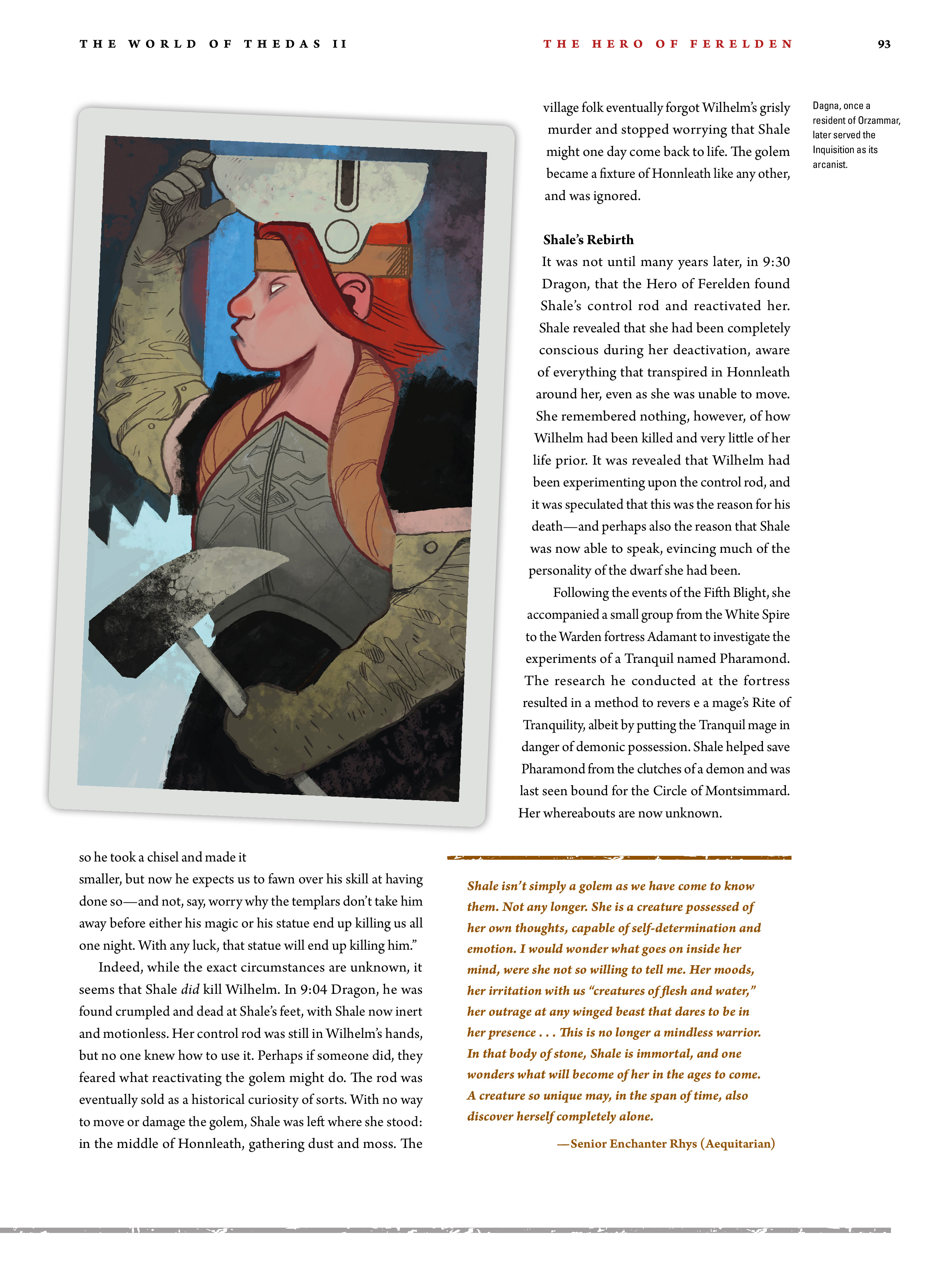 Read online Dragon Age: The World of Thedas comic -  Issue # TPB 2 - 89